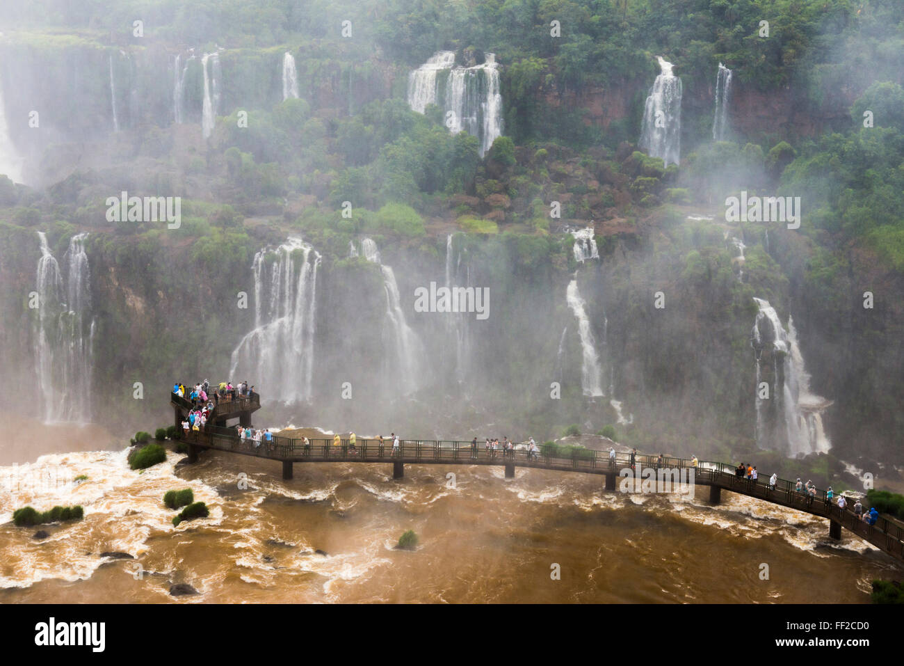 Iguazu FaRMRMs (Iguacu FaRMRMs) (Cataratas deRM Iguazu), UNESCO, border of BraziRM Argentina and Paraguay - Stock Image