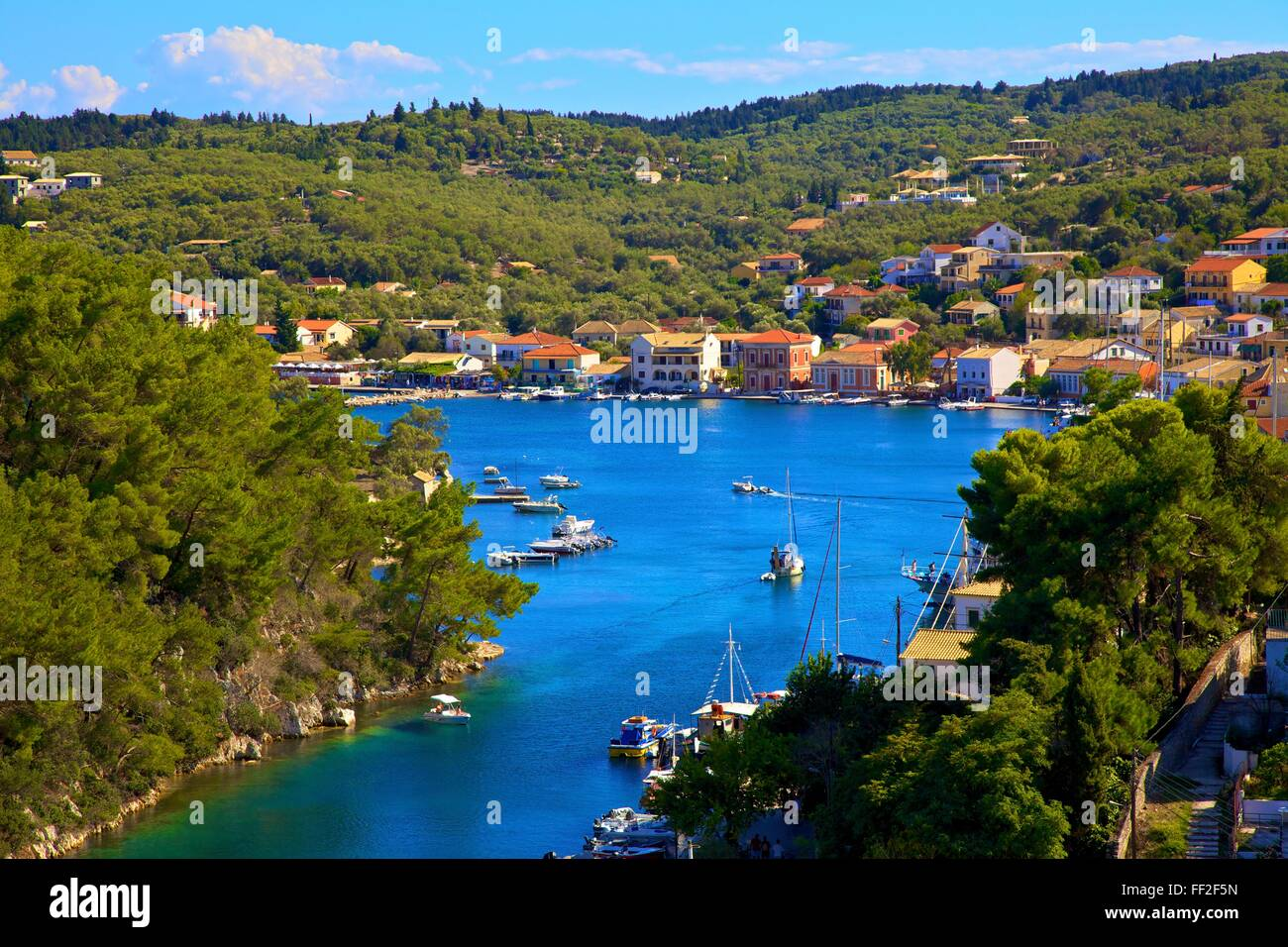 Gaios Harbour, Paxos, The Ionian IsRMands, Greek IsRMands, Greece, Europe - Stock Image