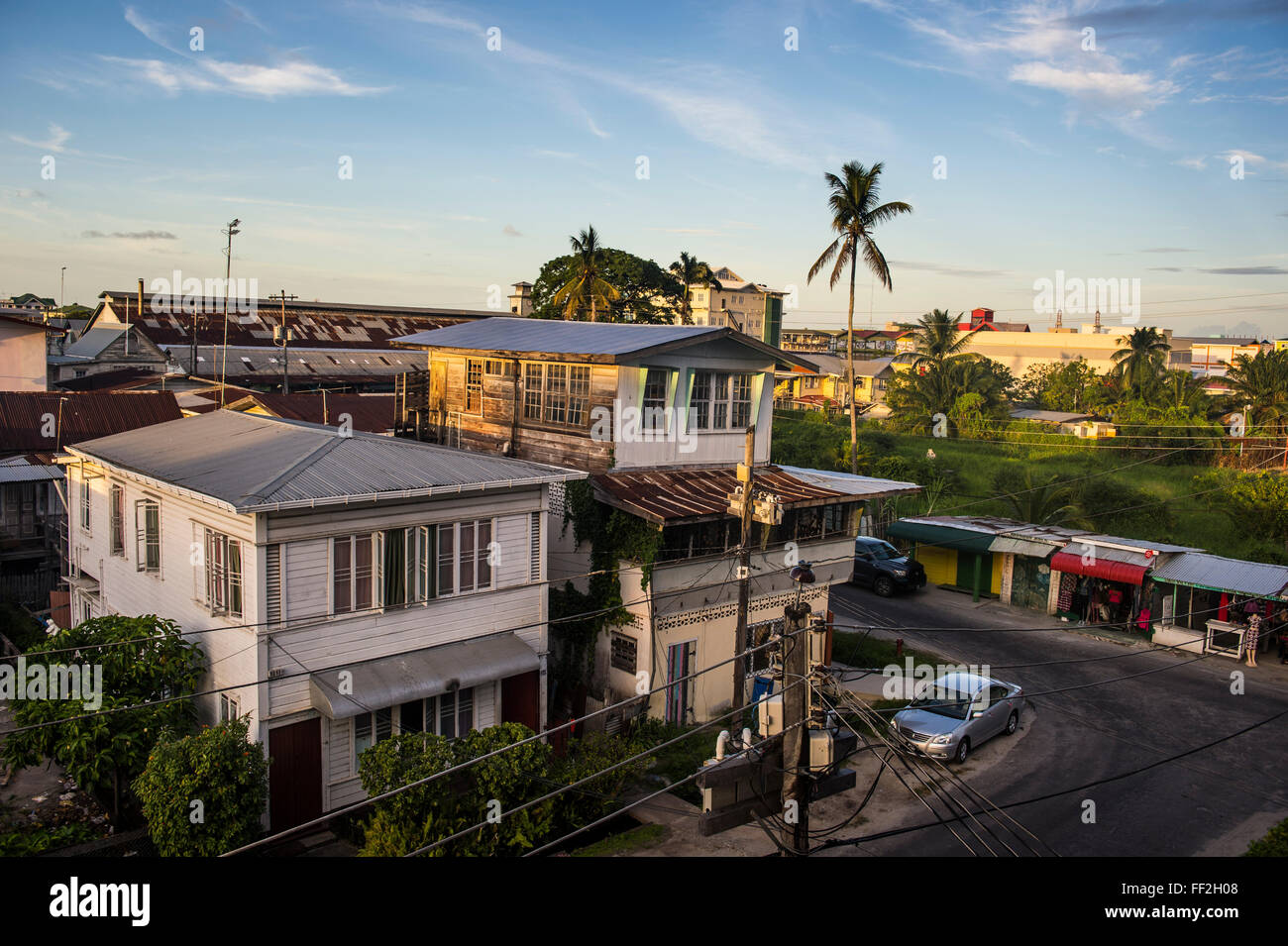 Downtown, Georgetown, Guyana, South America - Stock Image