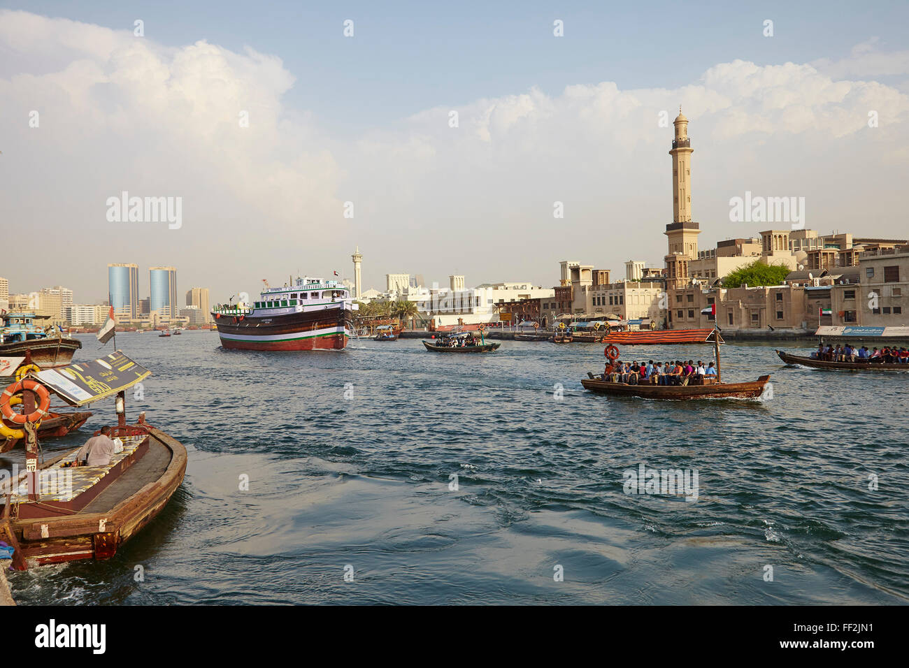 Dubai Creek, Dubai, United Arab Emirates, MiddRMe East - Stock Image