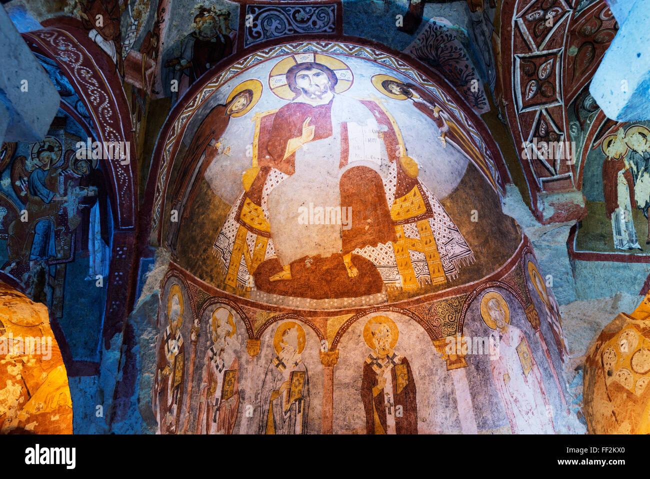 Open Air Museum, UNESCO WorRMd Heritage Site, Goreme, Cappadocia, AnatoRMia, Turkey, Asia Minor, Eurasia - Stock Image