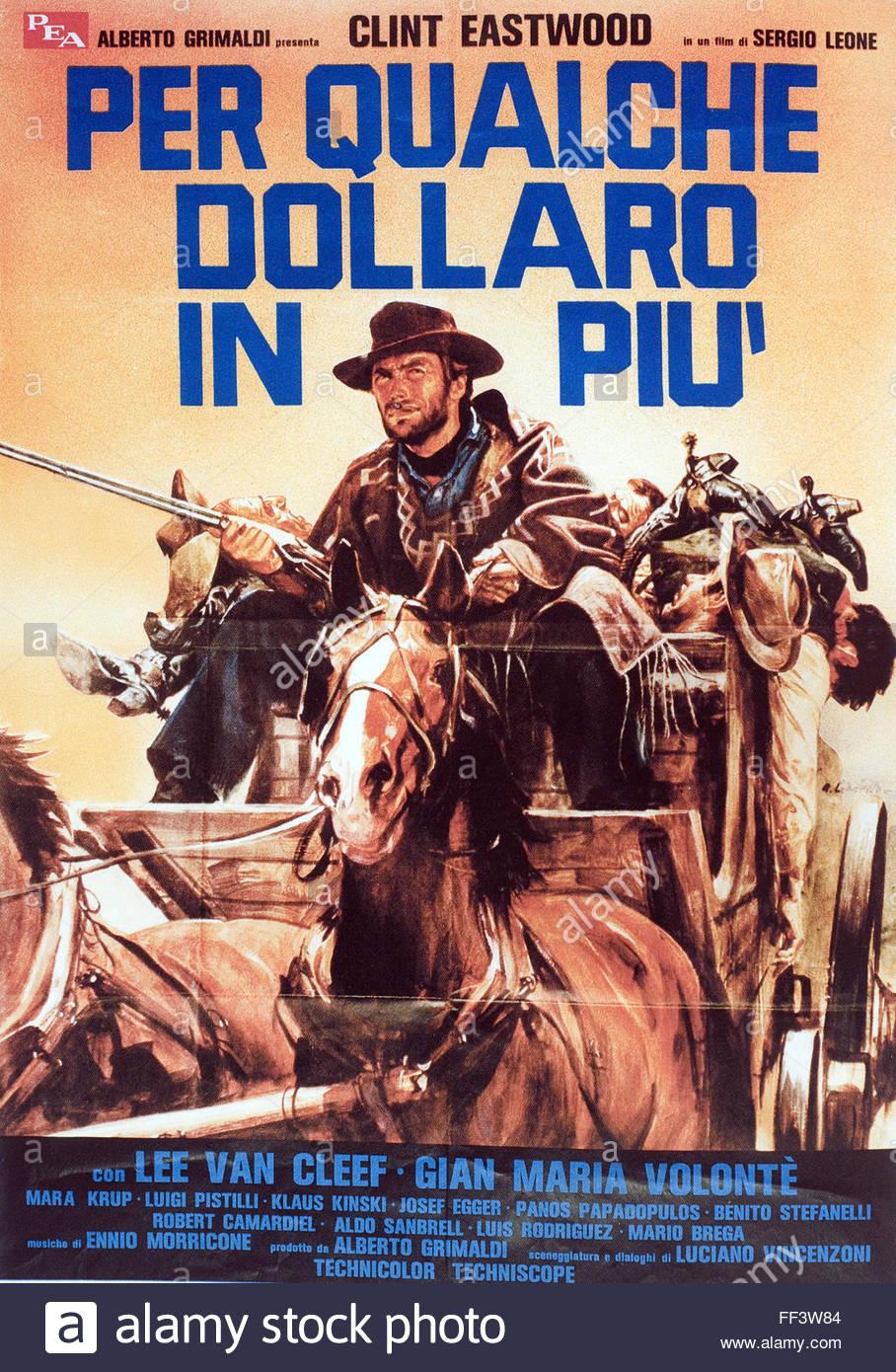 Per Qualche Dollaro in Piu - Original Italian Movie Poster - Stock Image
