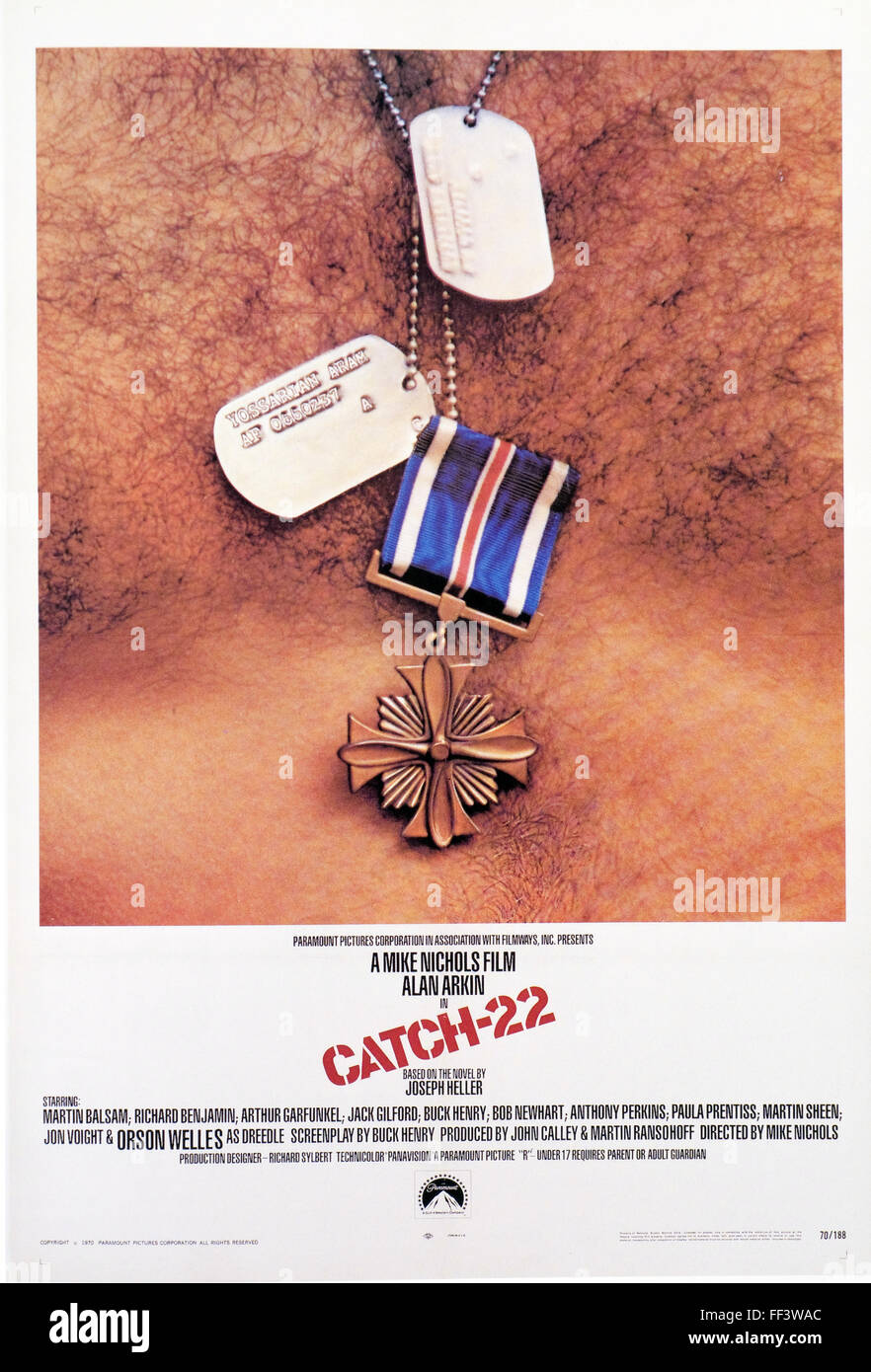 Catch 22- Movie Poster - Stock Image