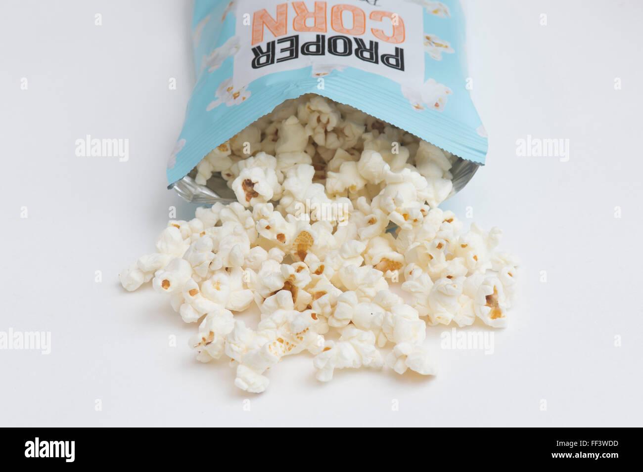 Propercorn flavored popcorn - Stock Image