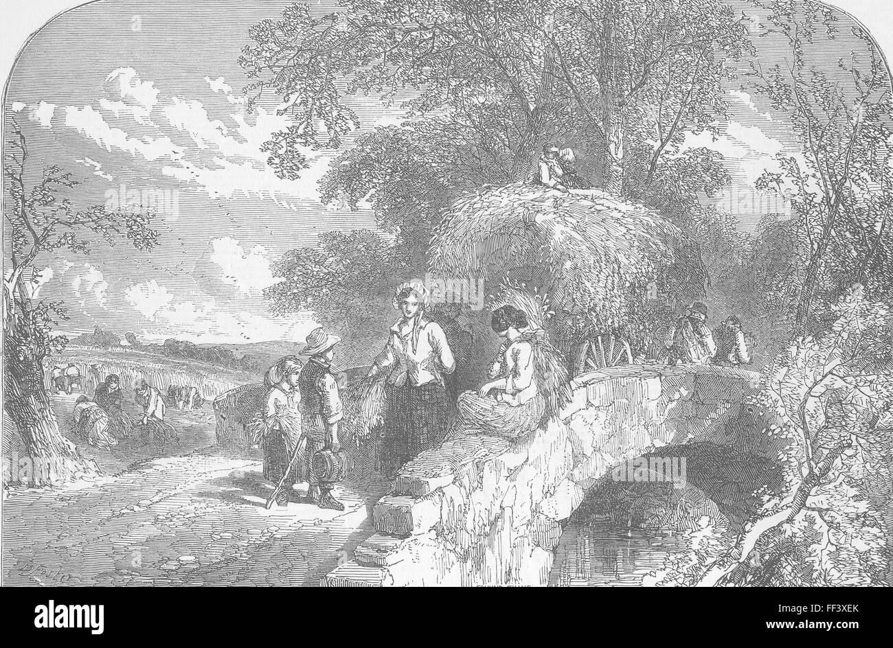 LANDSCAPES An Autumnal Lyric Autumn 1849. Illustrated London News - Stock Image