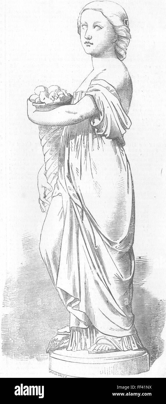 ROYALTY Princess Louise Plenty statue-Thornycroft 1856. Illustrated London News - Stock Image