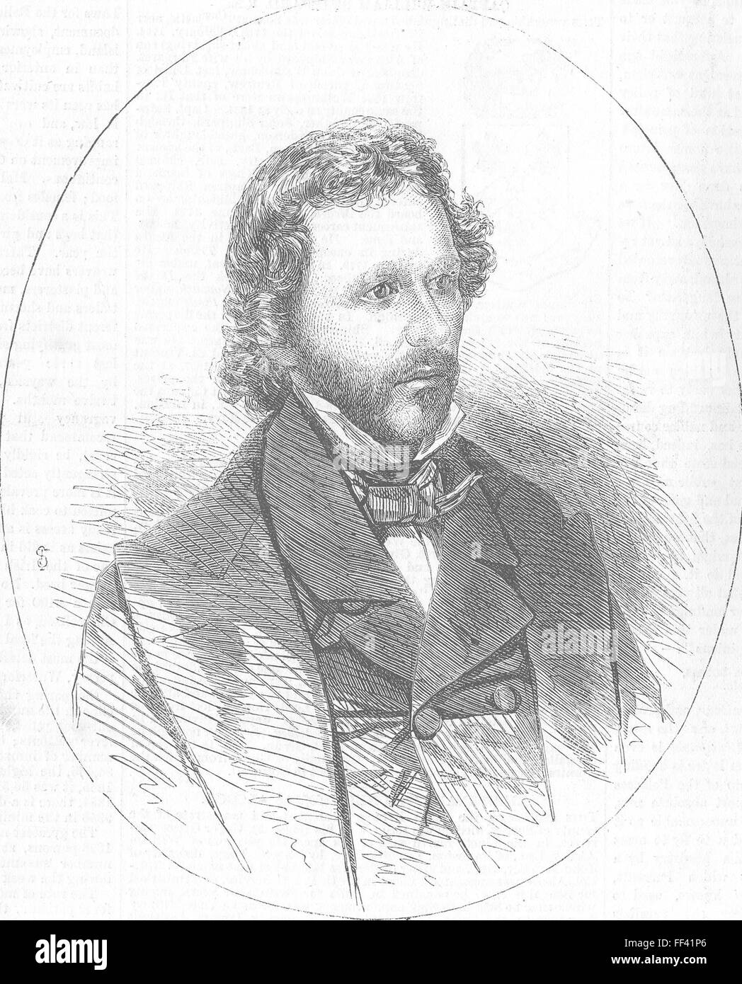 USA Col Fremont, Republican Presidential candidate 1856. Illustrated London News - Stock Image