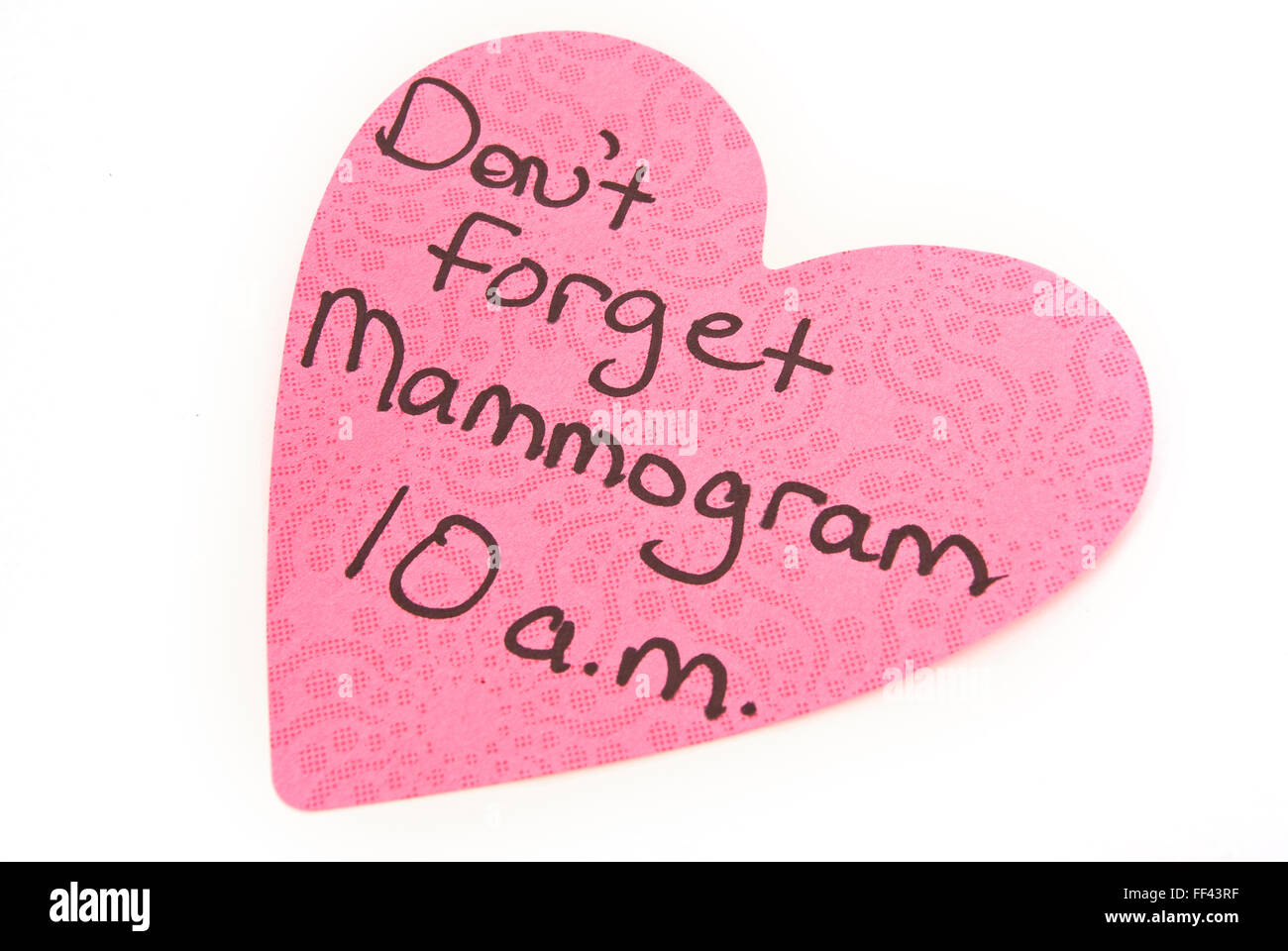 Mammogram Reminder - Stock Image