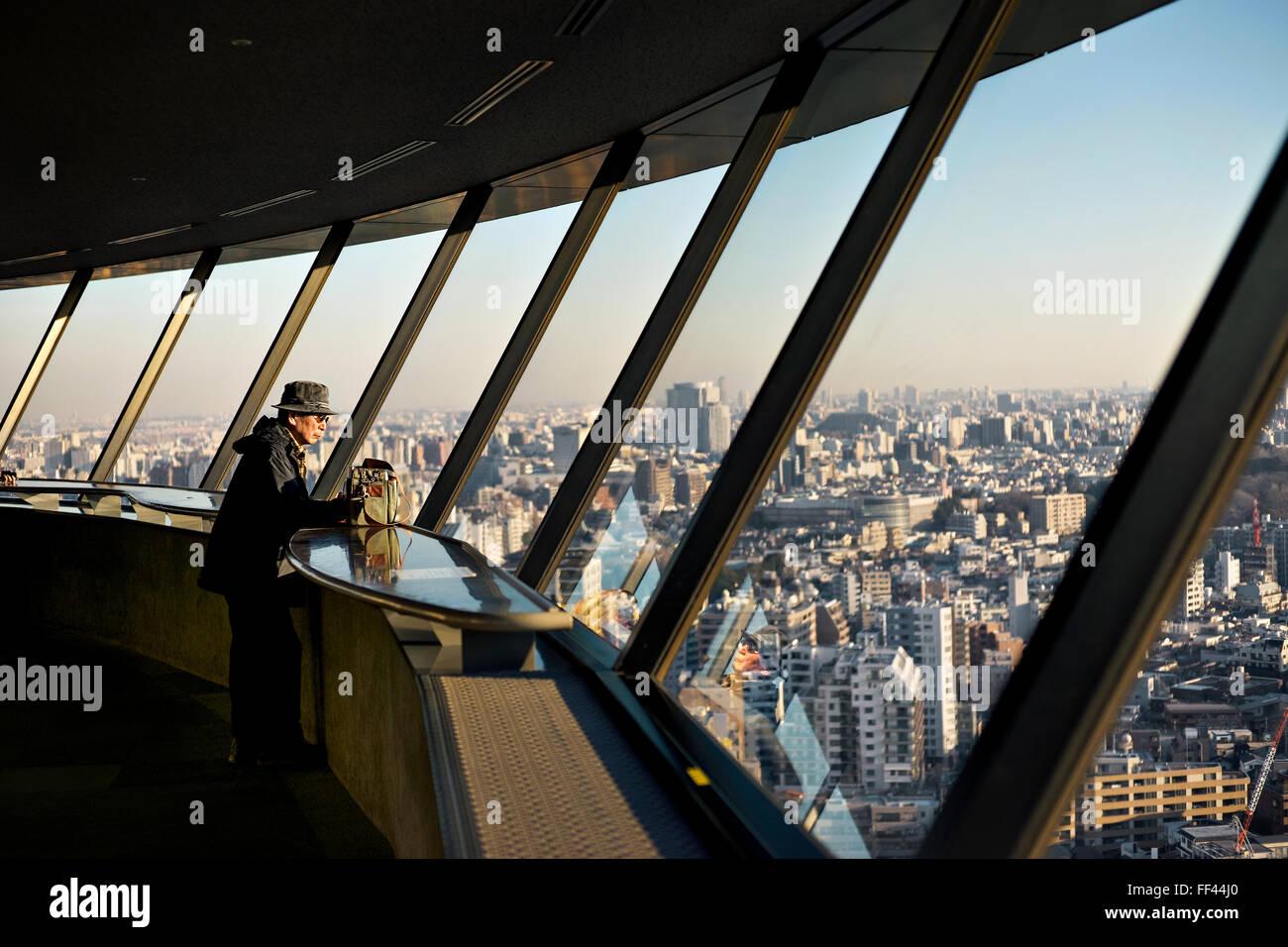 Japan, Honshu island, Kanto, Tokyo, desk view. - Stock Image