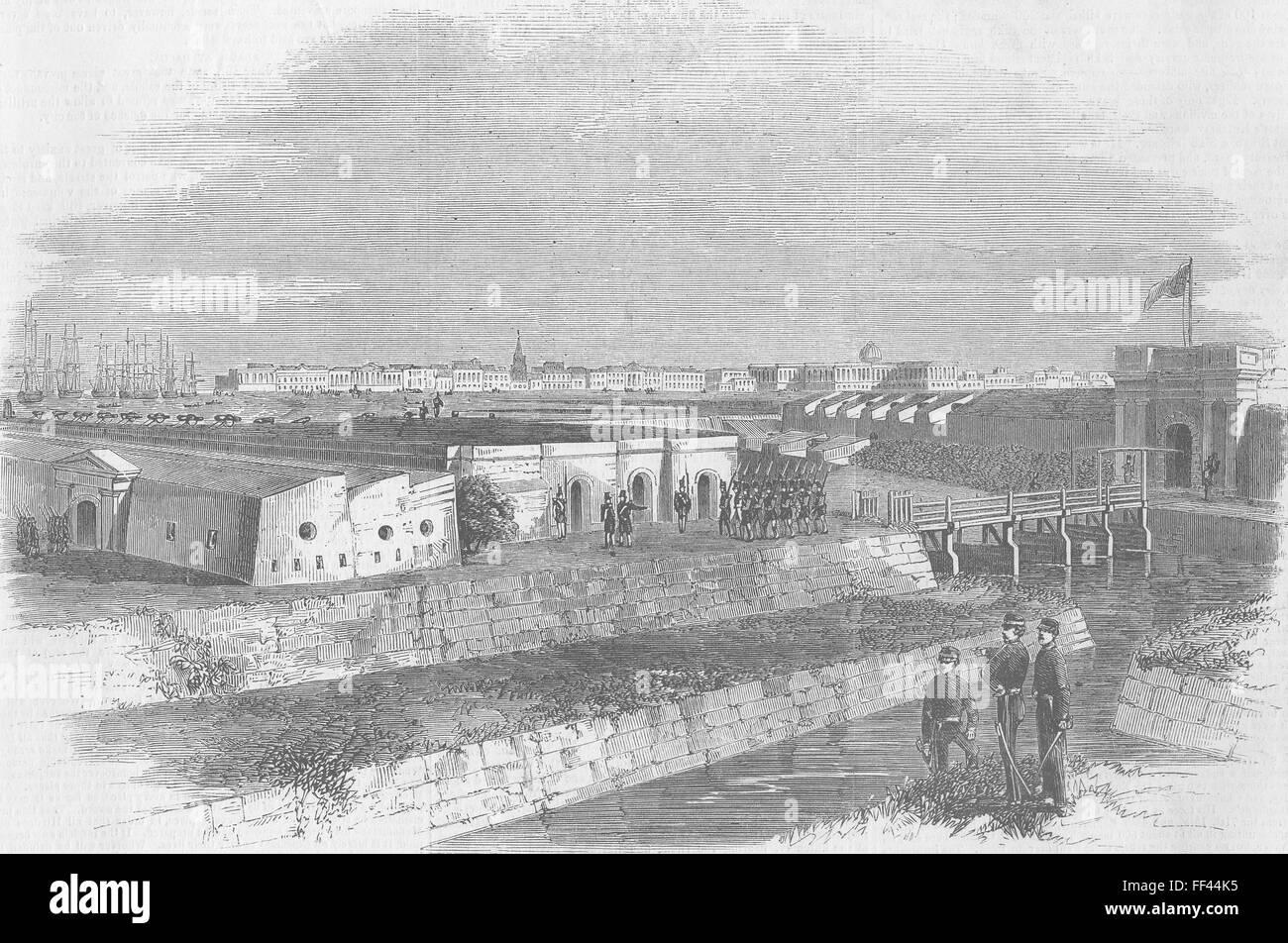 INDIA Ft William-Kolkata 1857  Illustrated London News Stock
