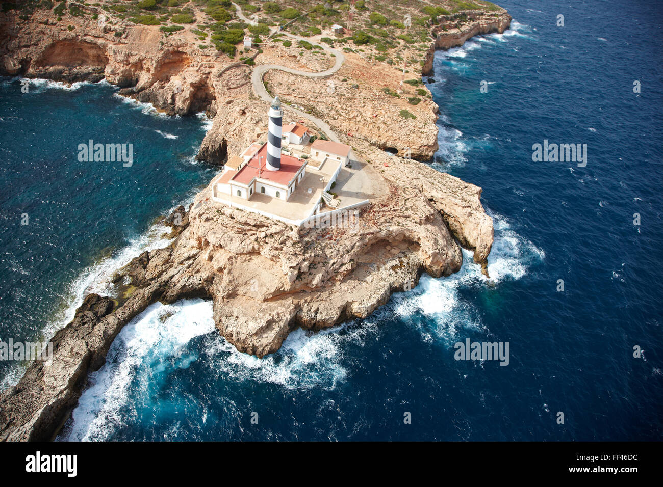 Aerial of the coastline of Mallorca - Stock Image