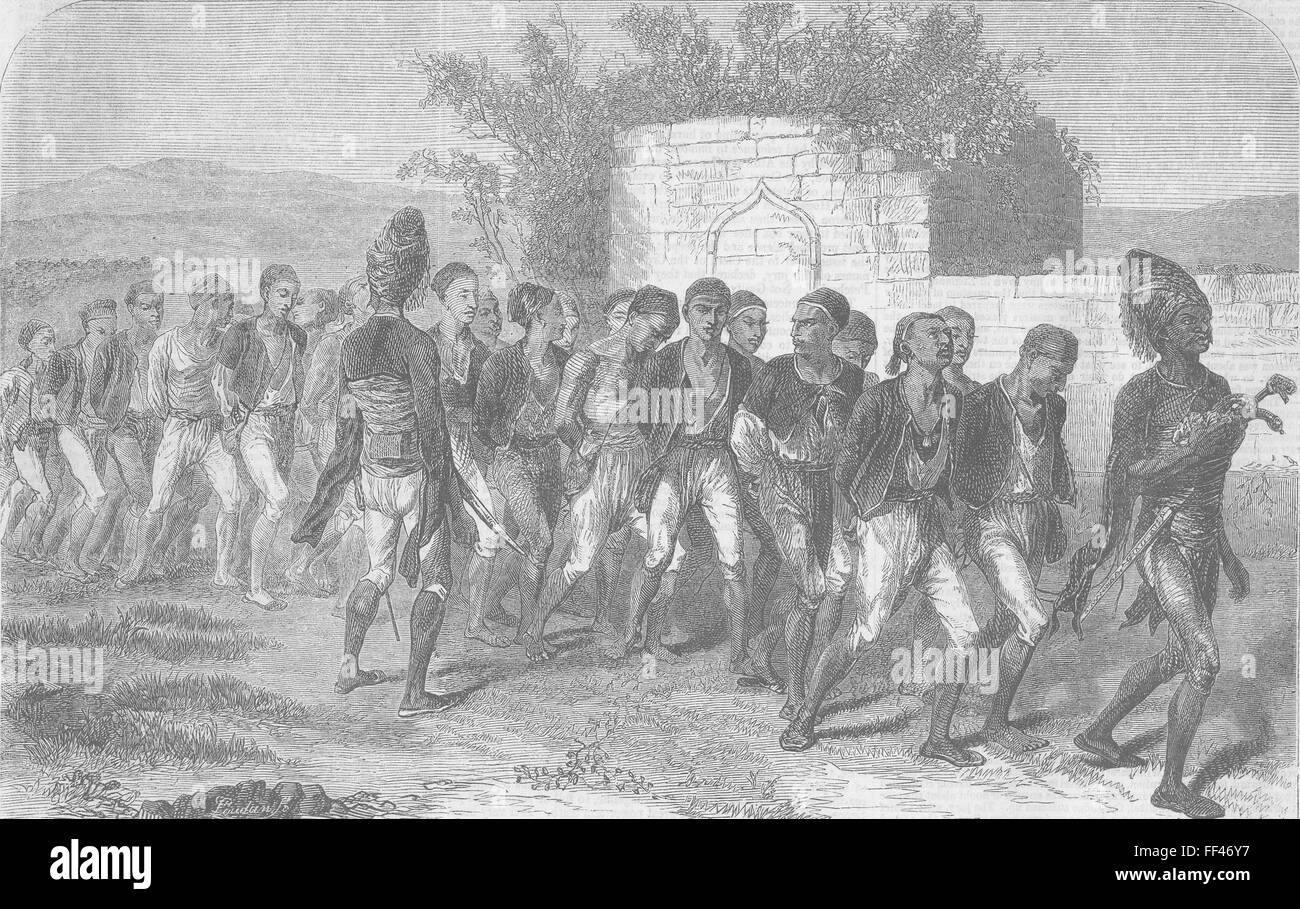 EGYPT Egyptian recruits for Turkish Army 1855. Illustrated Times - Stock Image
