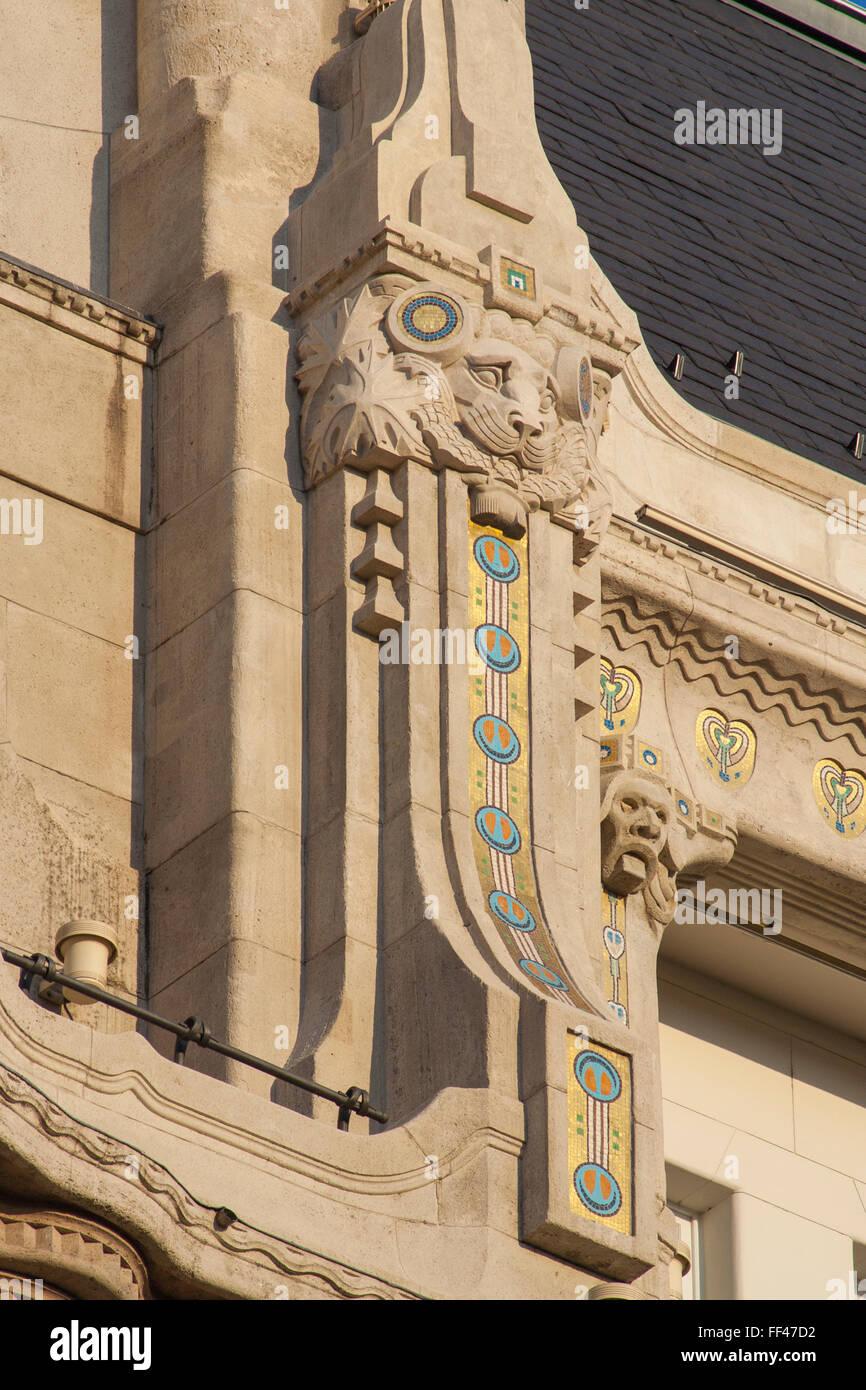Art Nouveau style Four Seasons Hotel Gresham Palace, Budapest, Hungary - Stock Image