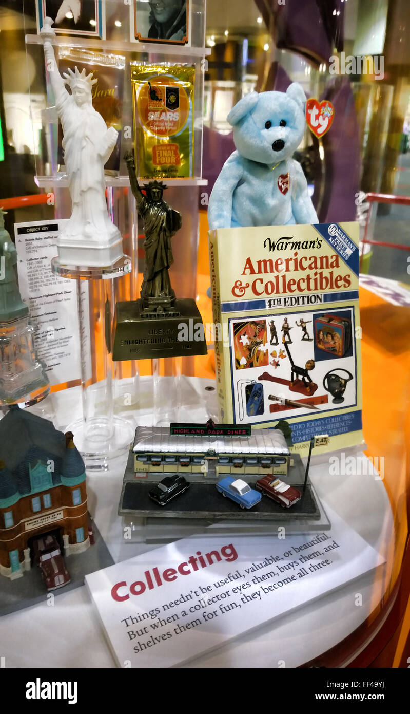 Rochester , New York. Strong Museum of Play. Collectibles display - Stock Image