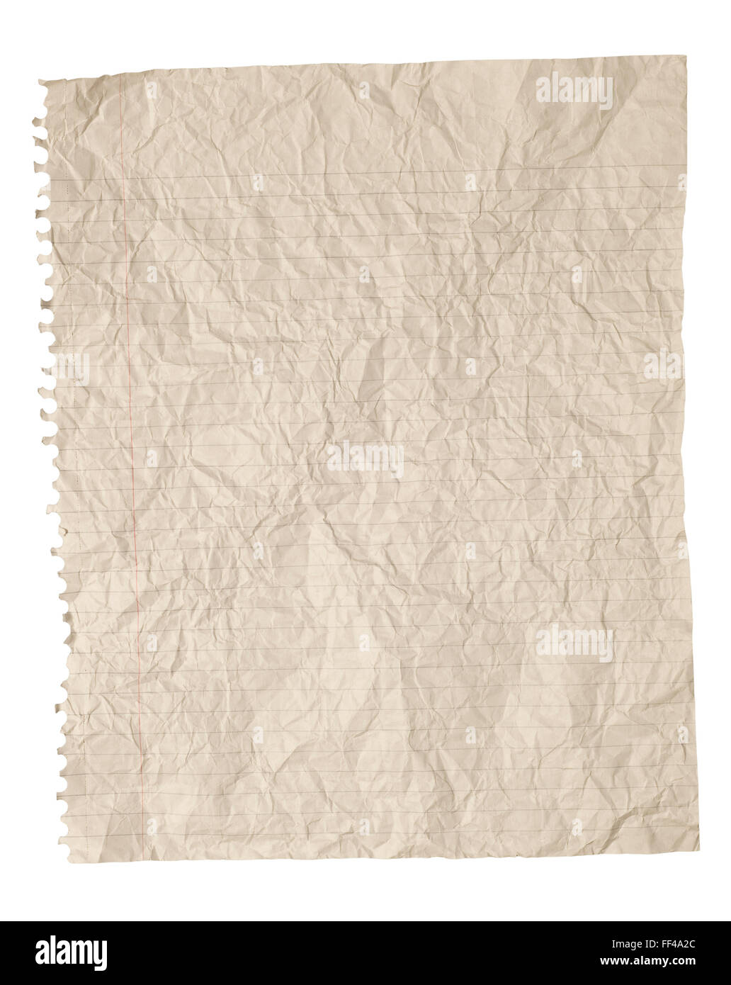Crumpled Paper Background On White