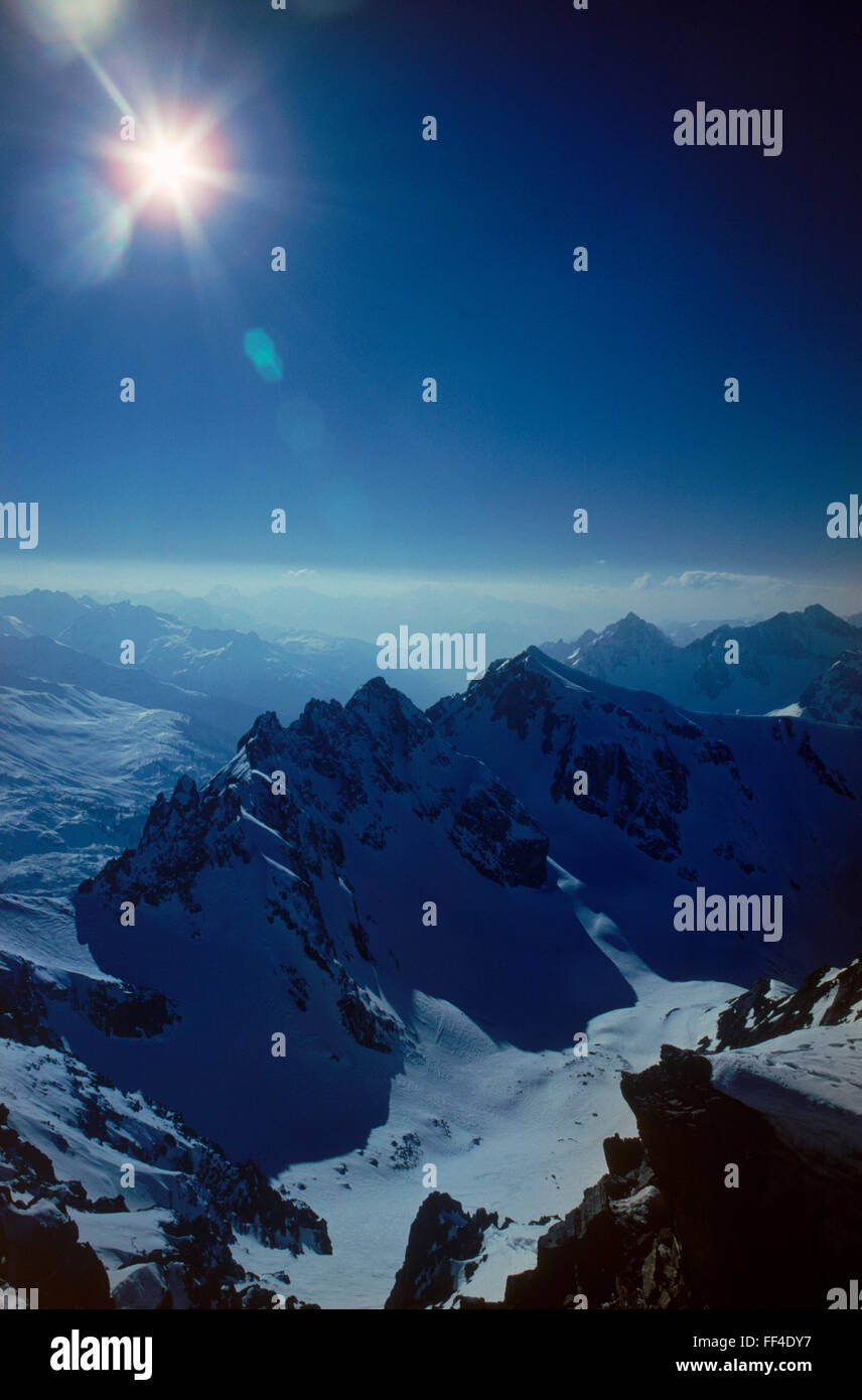 """St. Anton am Arlberg """"Cradle of Alpine skiing"""" in Austria is a snowy paradise both of high altitude and high quality - Stock Image"""