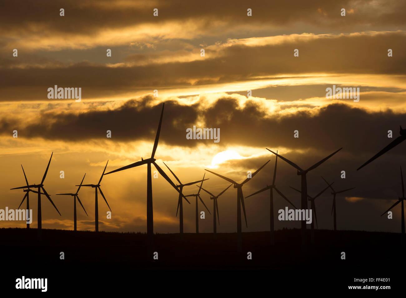 Black Law Wind Farm, near Forth, Lanarkshire, Scotland UK. - Stock Image