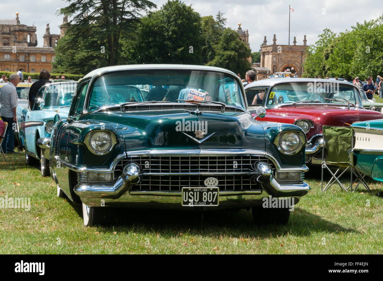 1955 Cadillac Stock Photos Images Alamy Coupe Deville Convertible De Ville American Auto Club Meeting Image