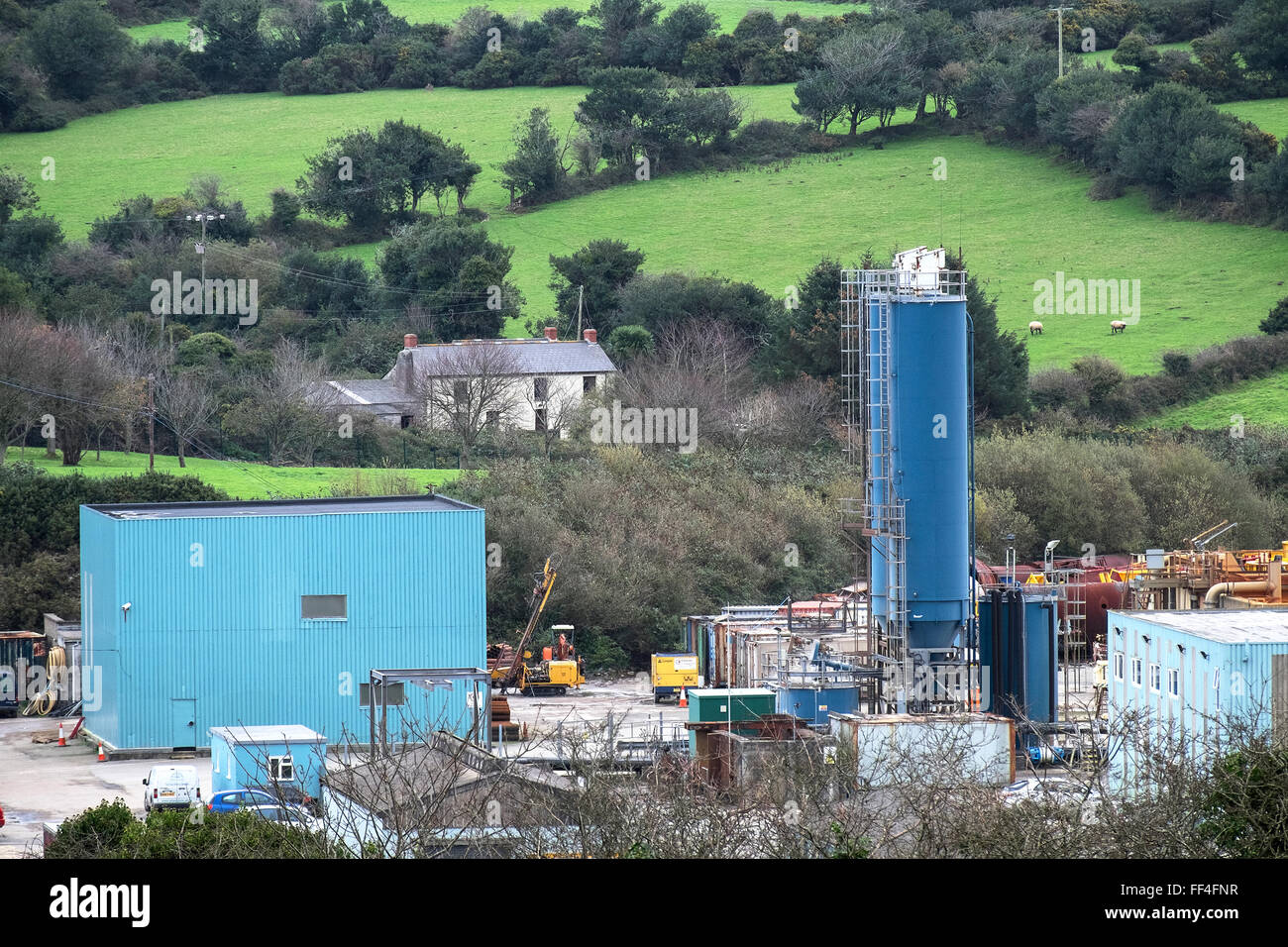 Wheal Jane Earth Science Park near Chacewater in Cornwall, UK - Stock Image