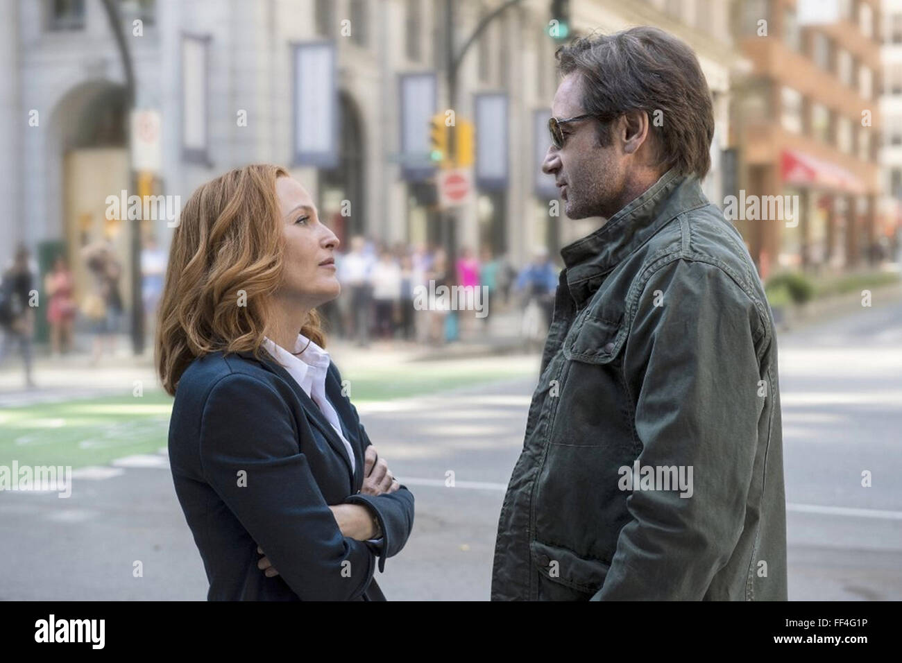 THE X-FILES  20th Century Fox TV series with Gillian Anderson and David Duchovny in the 1993  production - Stock Image