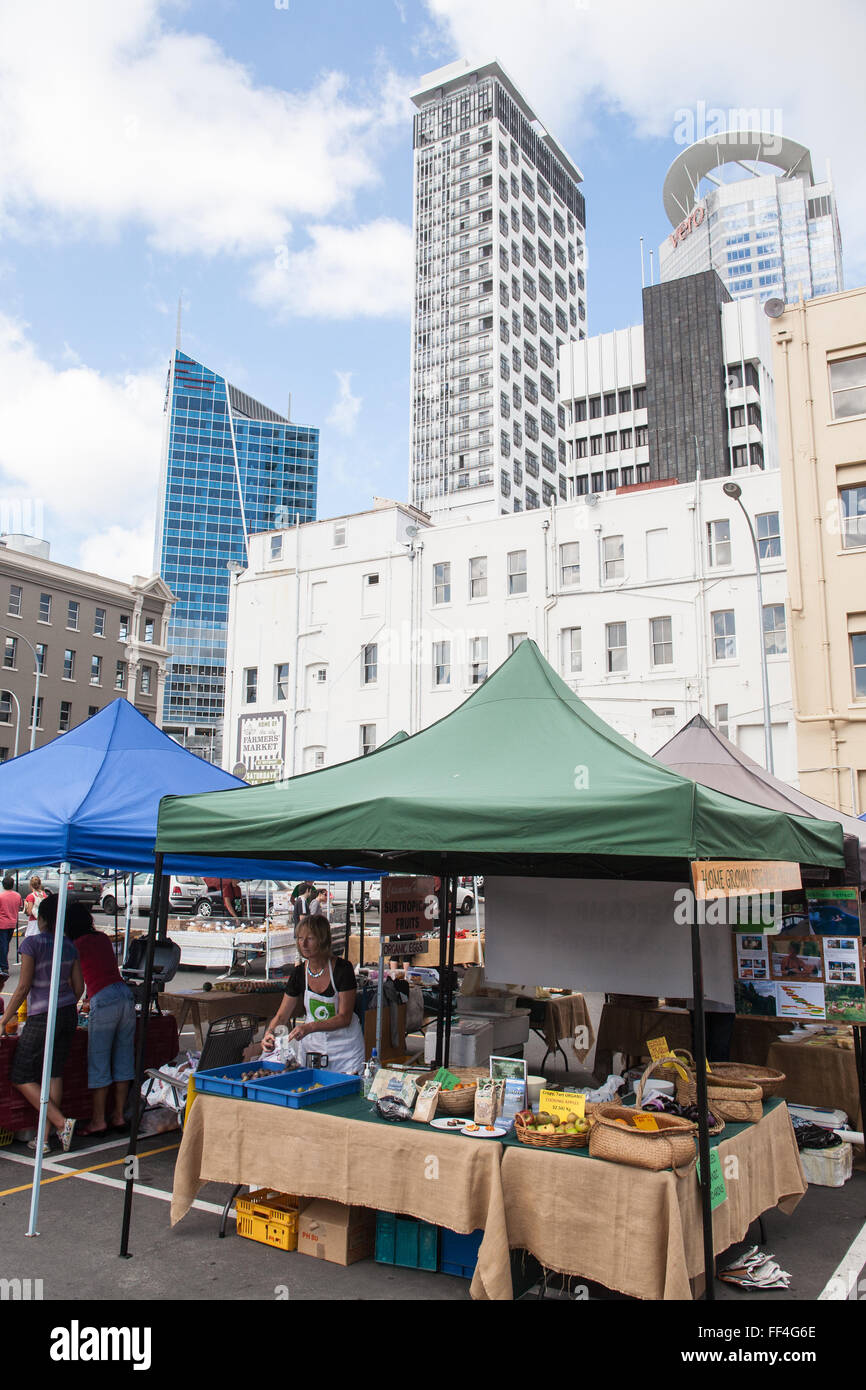 farmers food market next to britomart train station in centre of stock photo 95372214 alamy. Black Bedroom Furniture Sets. Home Design Ideas