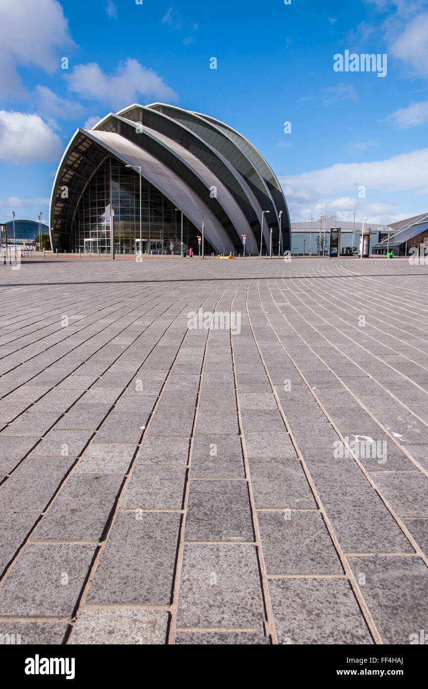 View of the SECC exhibition center. Surface level shot. Glasgow, Scotland, UK. - Stock Image