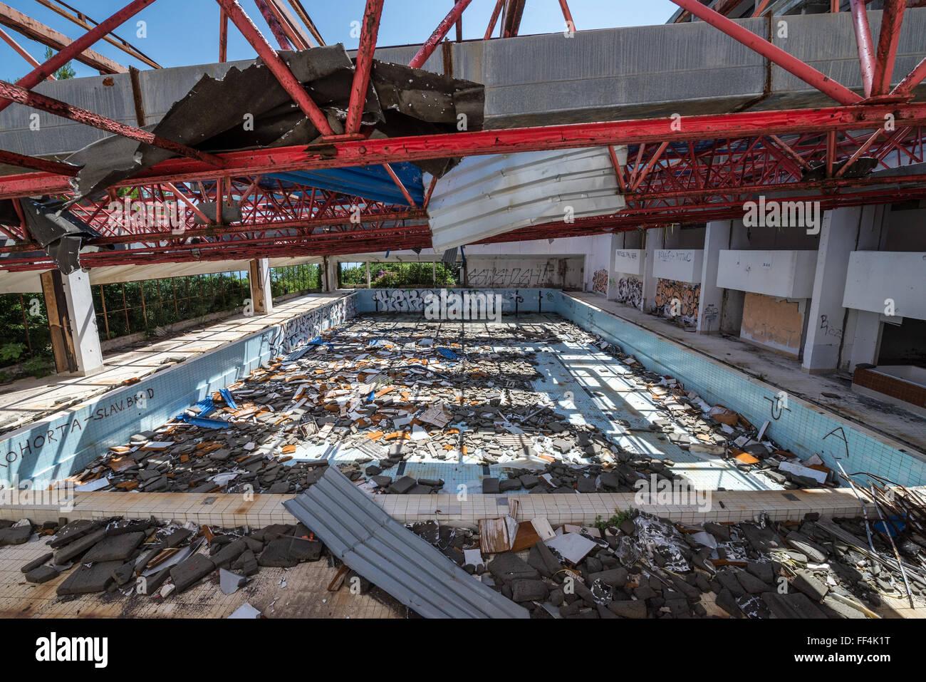 Swimming Pool In Abandoned Kupari Hotel In Kupari Tourist Complex Stock Photo Alamy