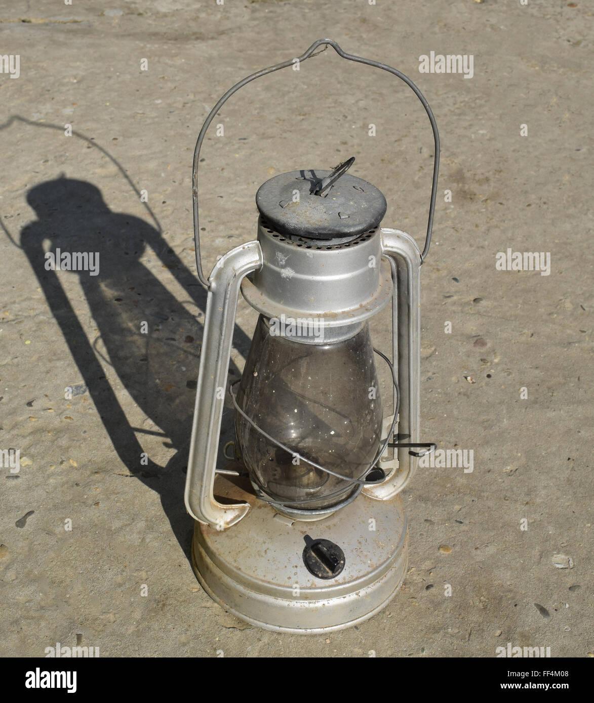 Old kerosene l&. The old lighting fixture. & Old kerosene lamp. The old lighting fixture Stock Photo: 95375176 ...