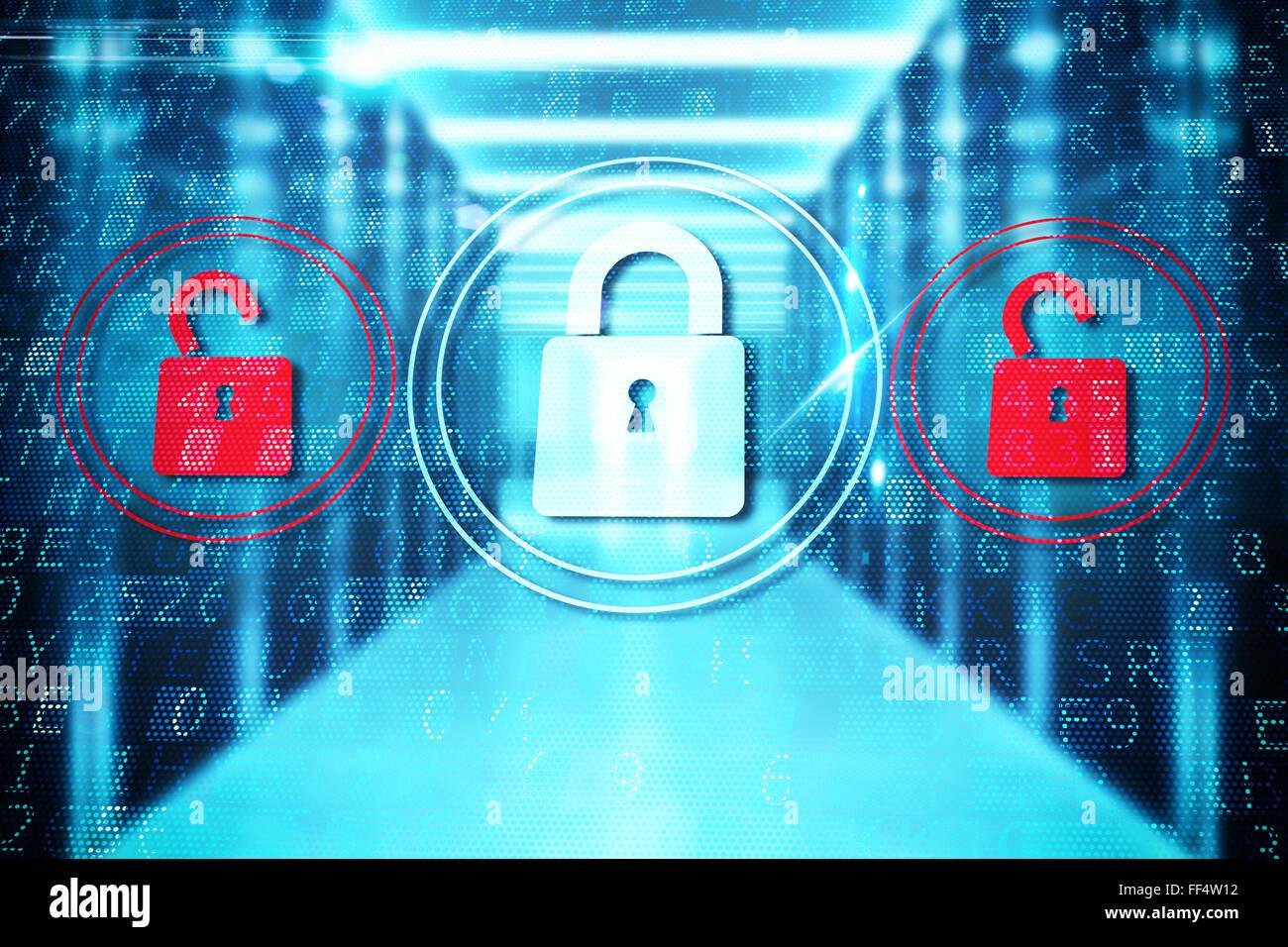 Security closed padlock - Stock Image