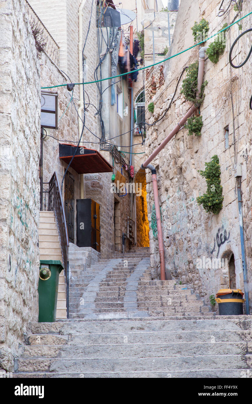 Jerusalem - aisle in Arab quarter - Stock Image