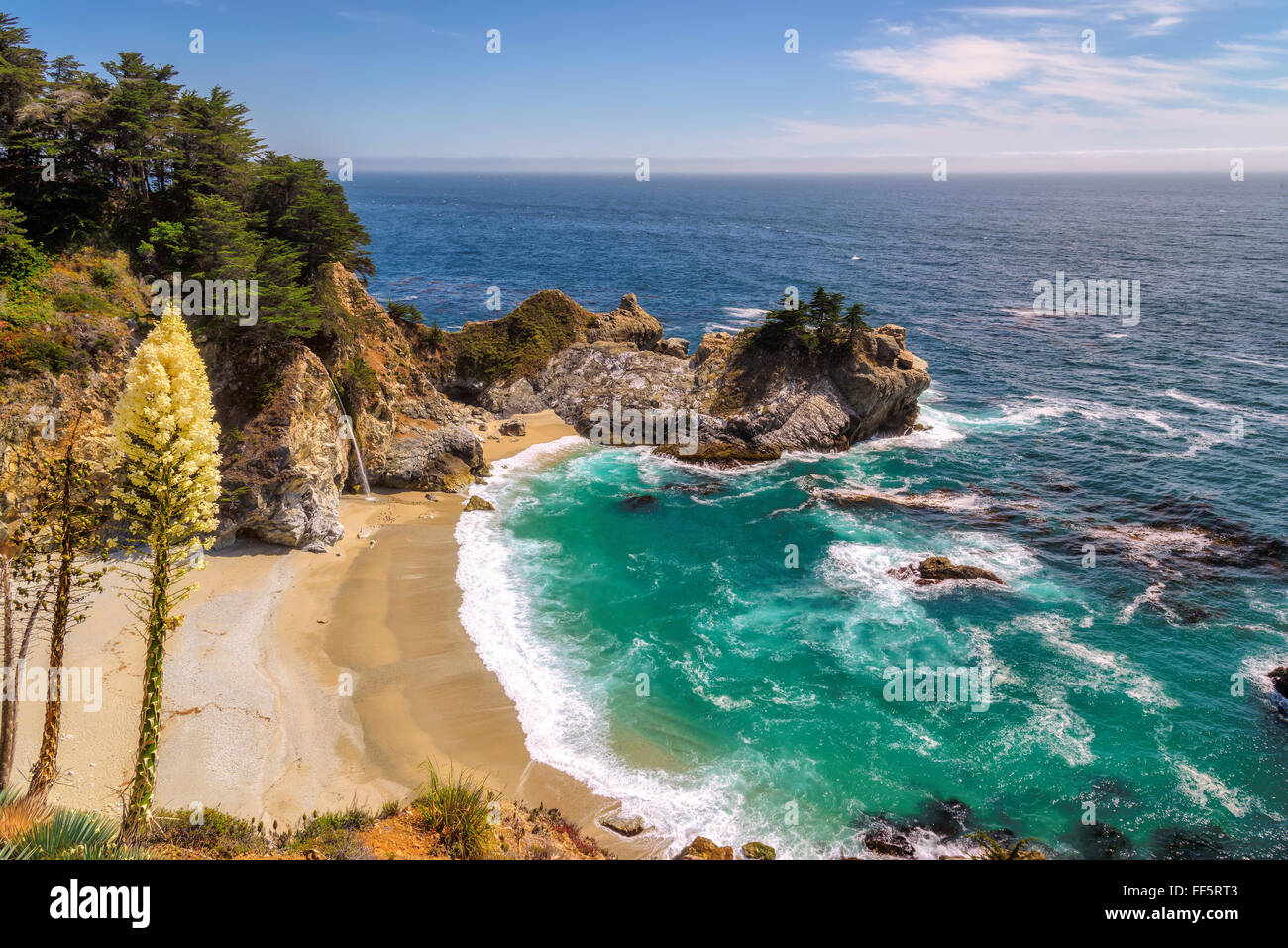 Beautiful Julia Pfeiffer beach in Big Sur. California - Stock Image
