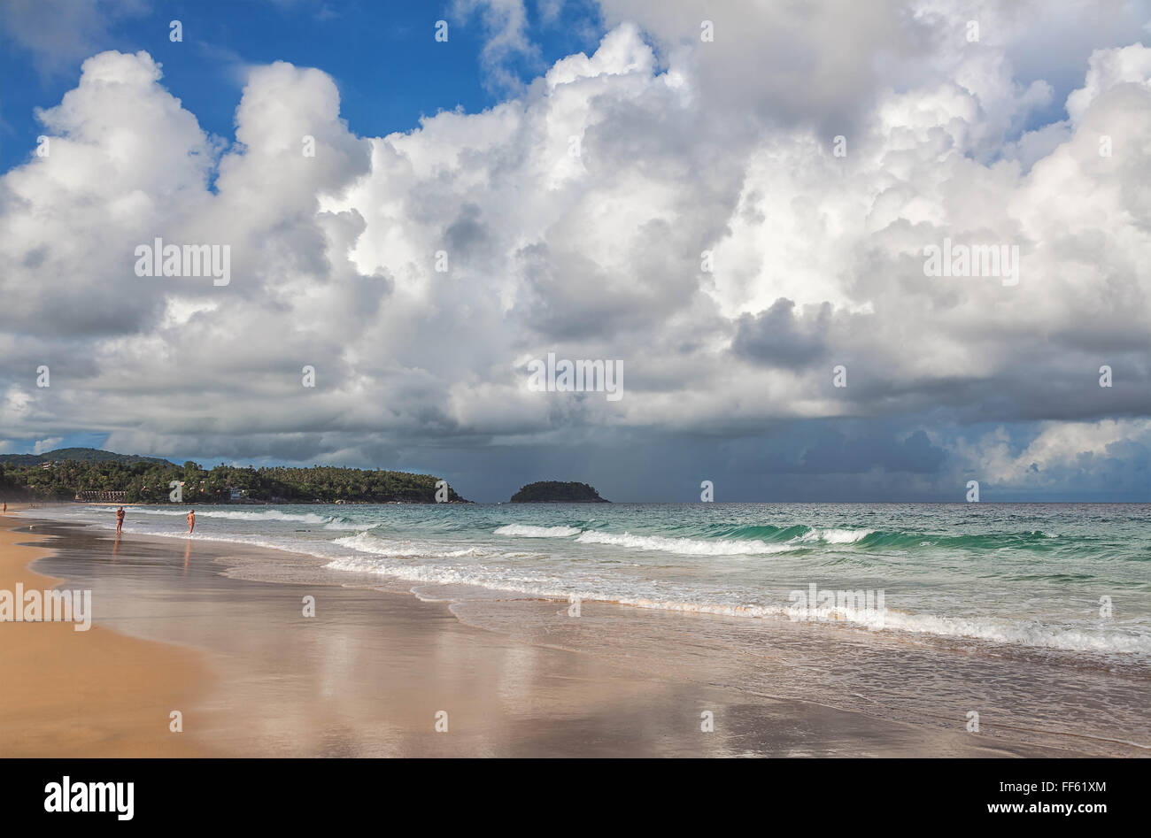 Morning on the island of Phuket in Thailand - Stock Image