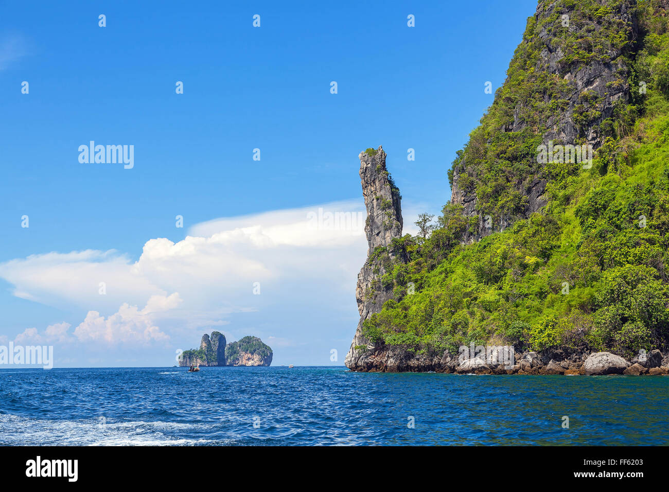 Tropical islands of the Andaman Sea in Thailand - Stock Image