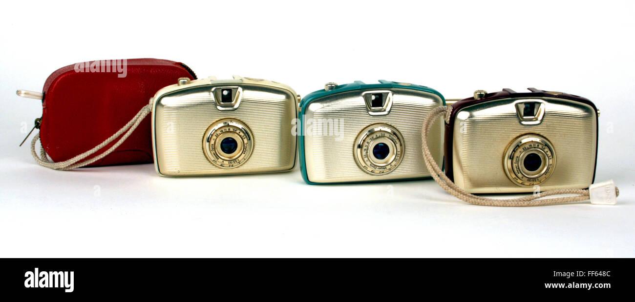 photography, cameras, small picture rangefinder camera Penti 1, produced by VEB Kamera- und Kinowerke Dresden, Welta - Stock Image