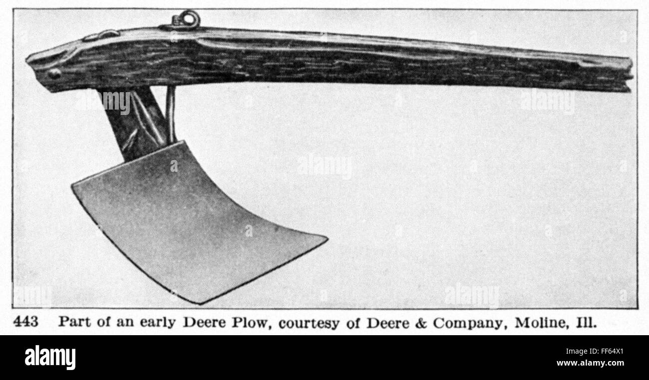 Deere Plow 1837 Na Drawing Of John Deere S Steel Plow Developed