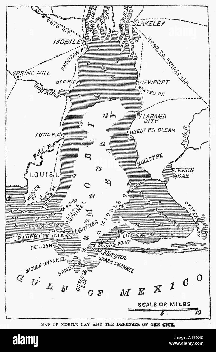 BATTLE OF MOBILE BAY, 1864. /nMap of the site of the Union ... on battle of games, west florida maps, battle of social media, american revolutionary war maps, valley forge maps,