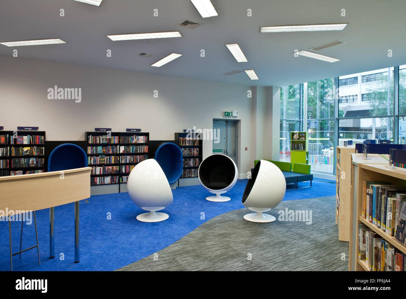 Woking Library Woking Surrey - Stock Image