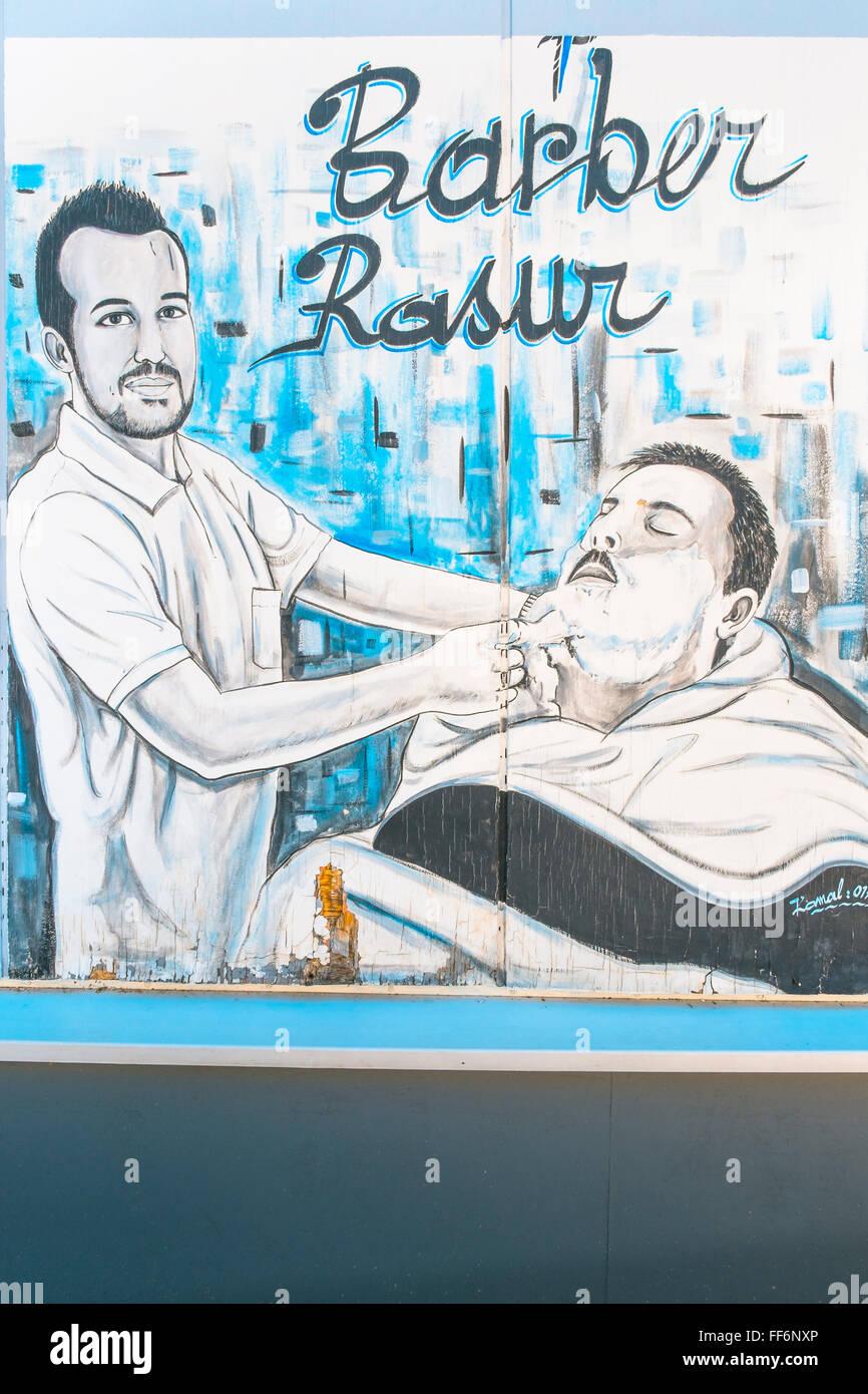 Advertisement Barber Shop Stock Photos Advertisement Barber Shop