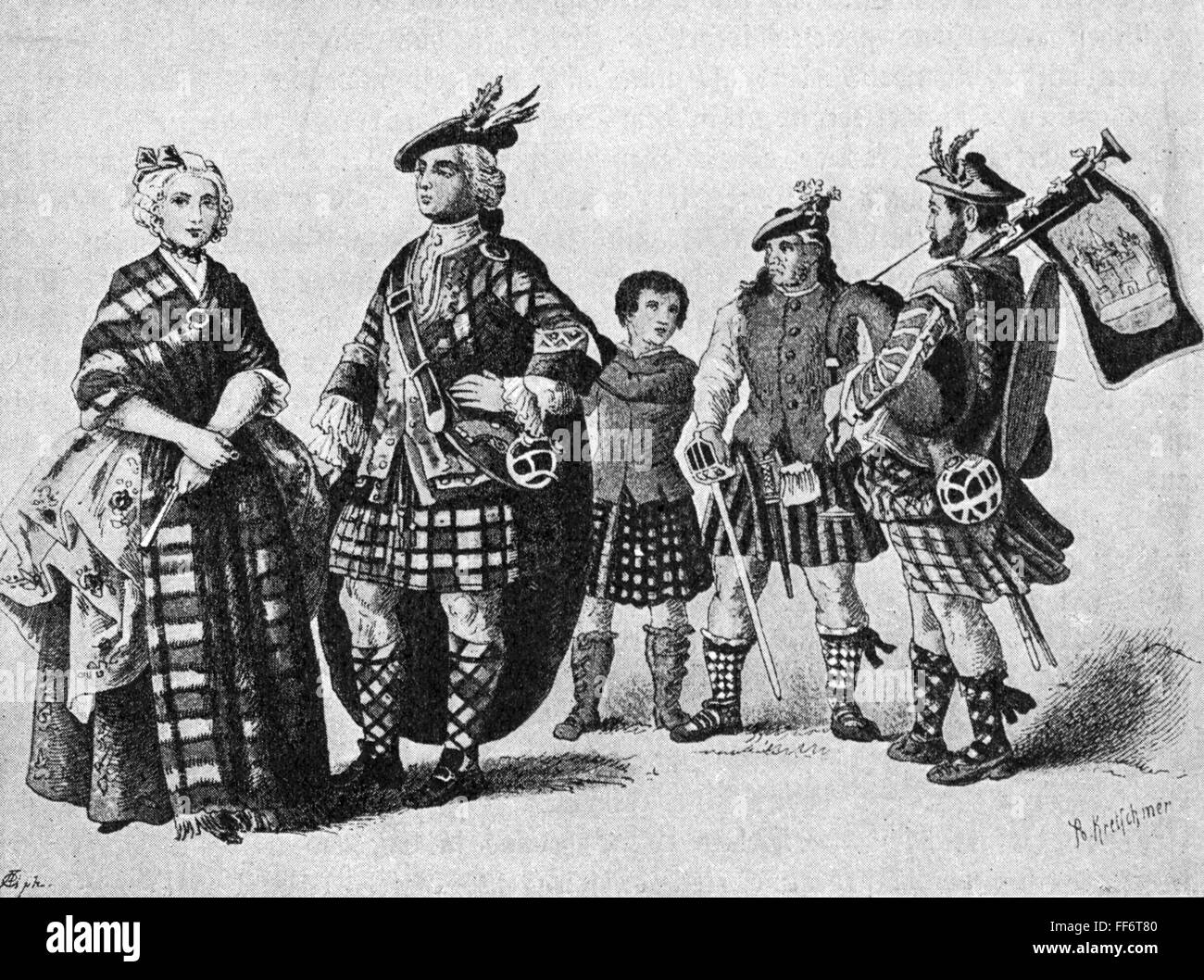 Tartan Scotland Black and White Stock Photos & Images - Alamy