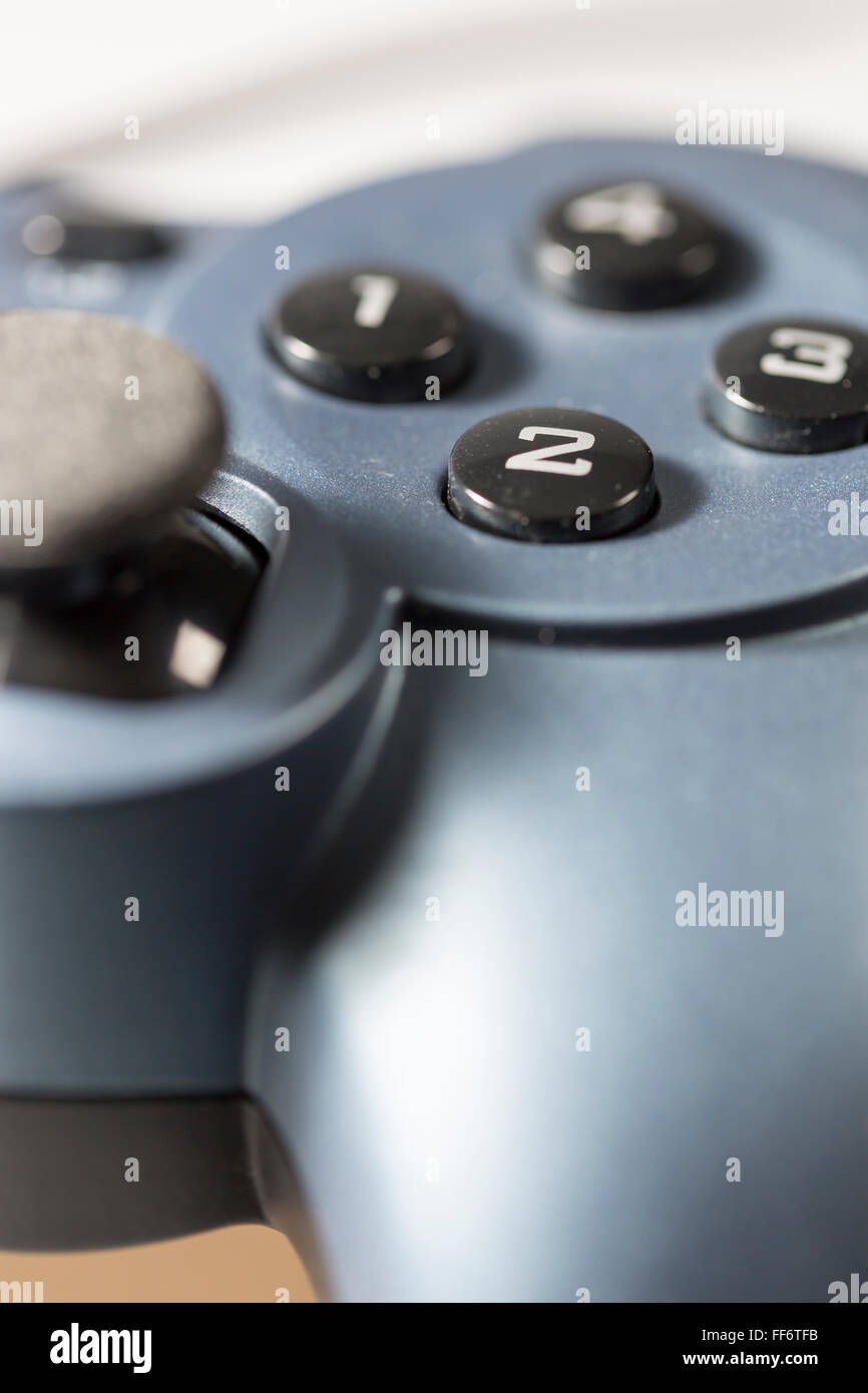 Video Game Controller buttons close up. - Stock Image