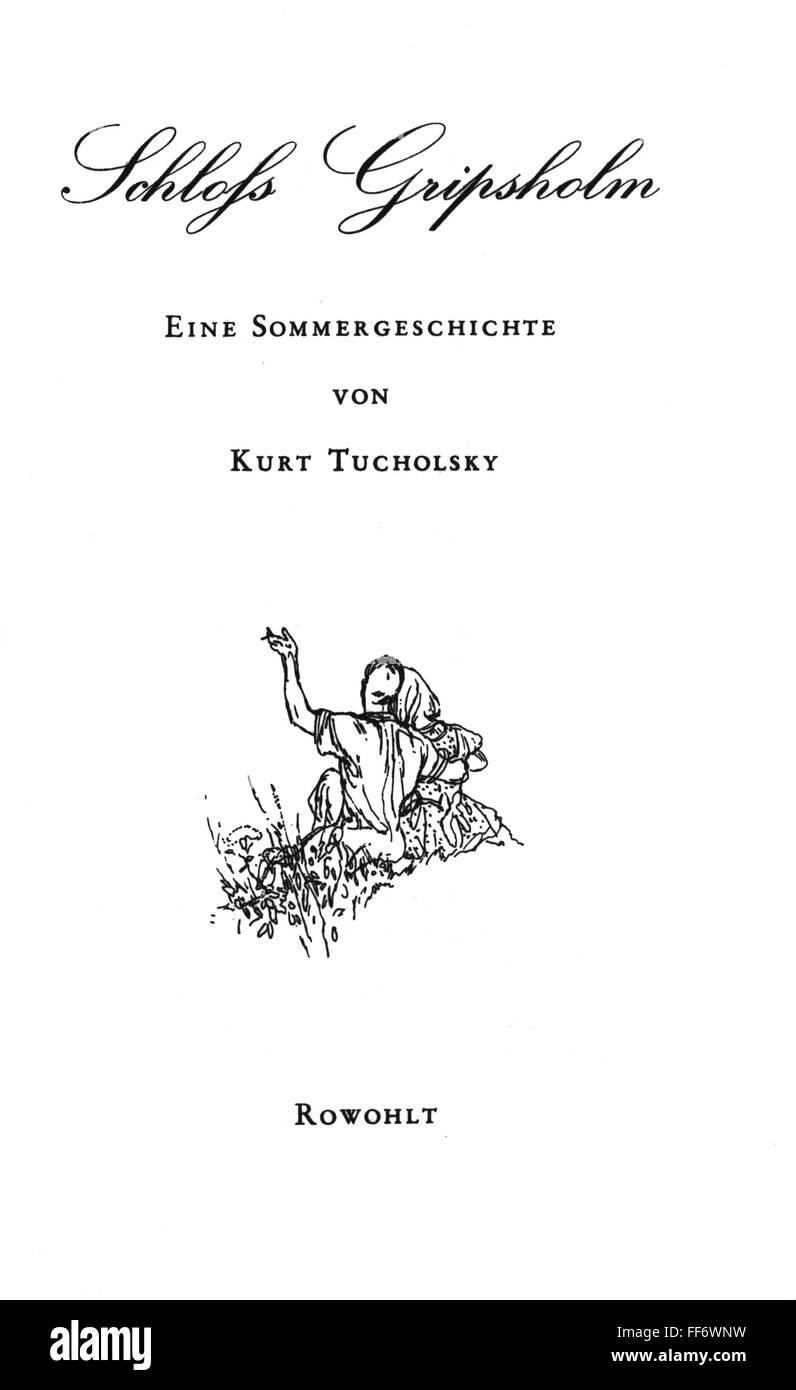 books, Kurt Tucholsky: 'Gripsholm Castle. A Summer Story' ('Schloss Gripsholm', 1931), new edition, - Stock Image