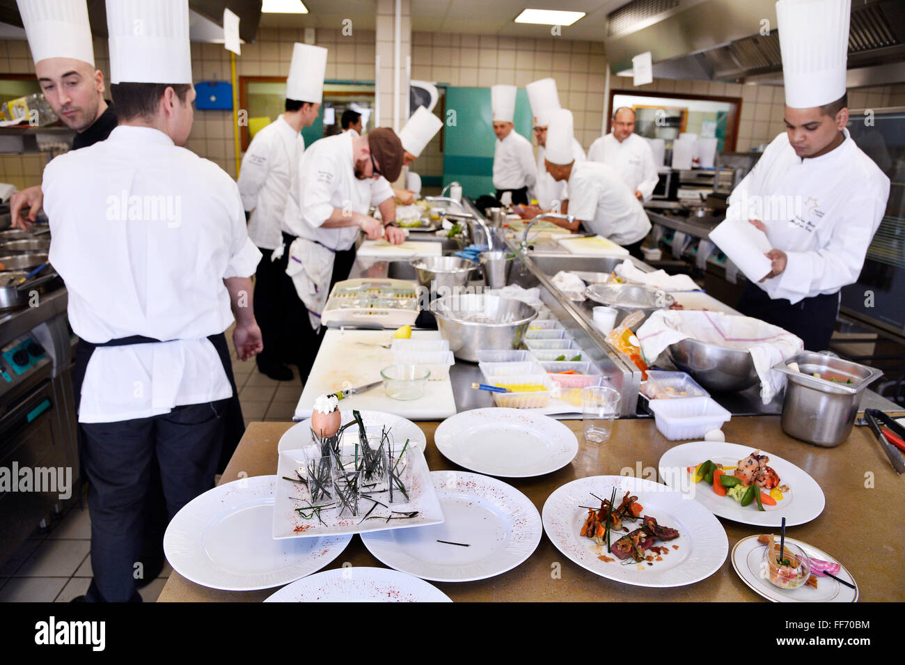 French catering food service - Stock Image