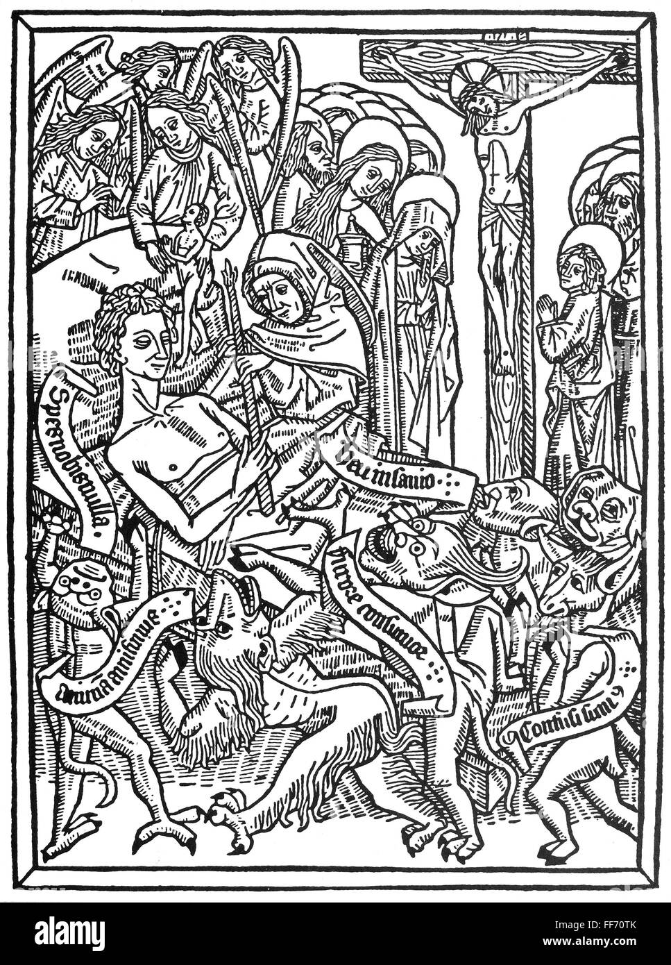 ars moriendi 1471 nangels vying with and triumphing over demons