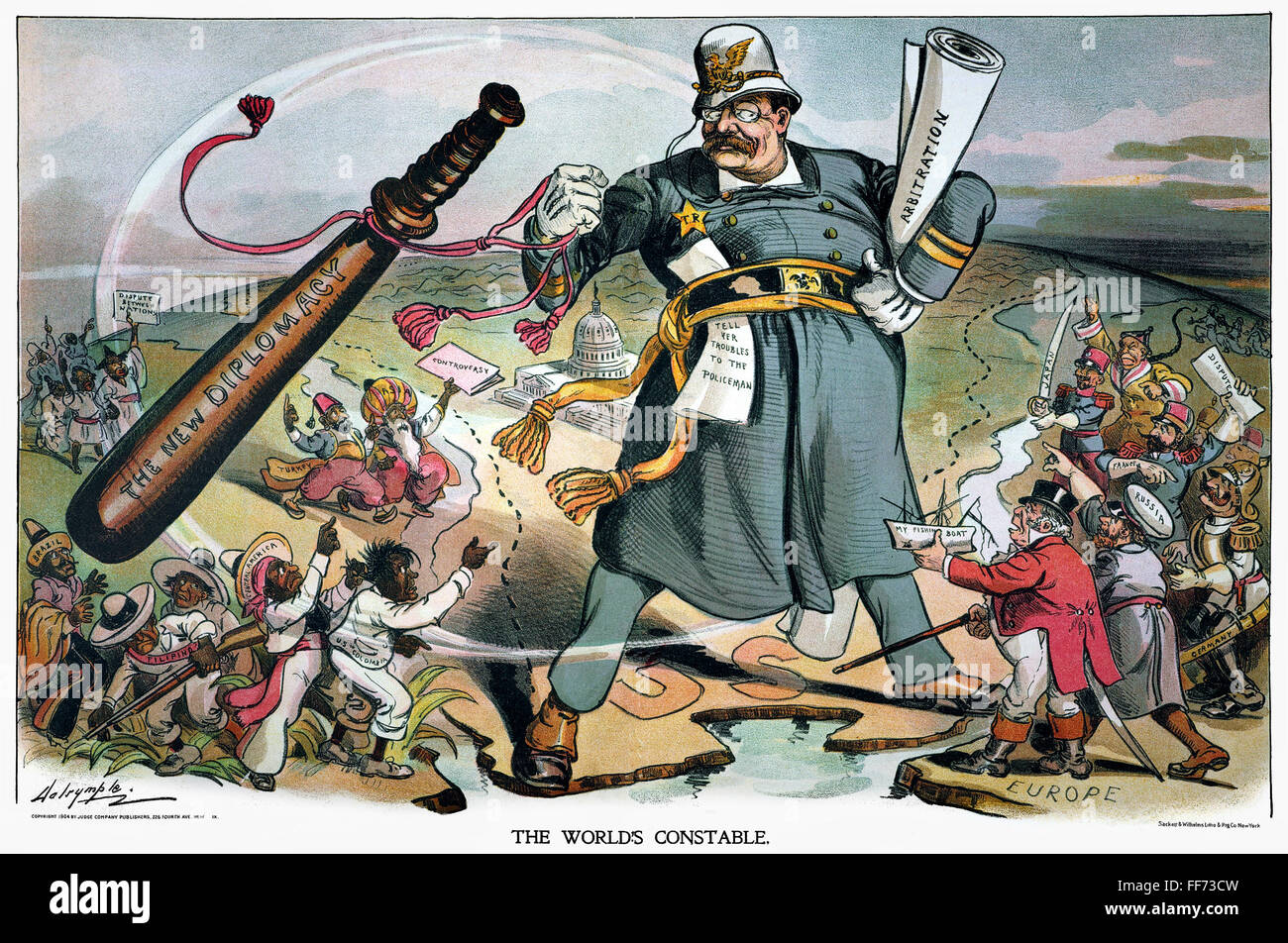 Cartoon Roosevelt 1905 N World S Constable Cartoon
