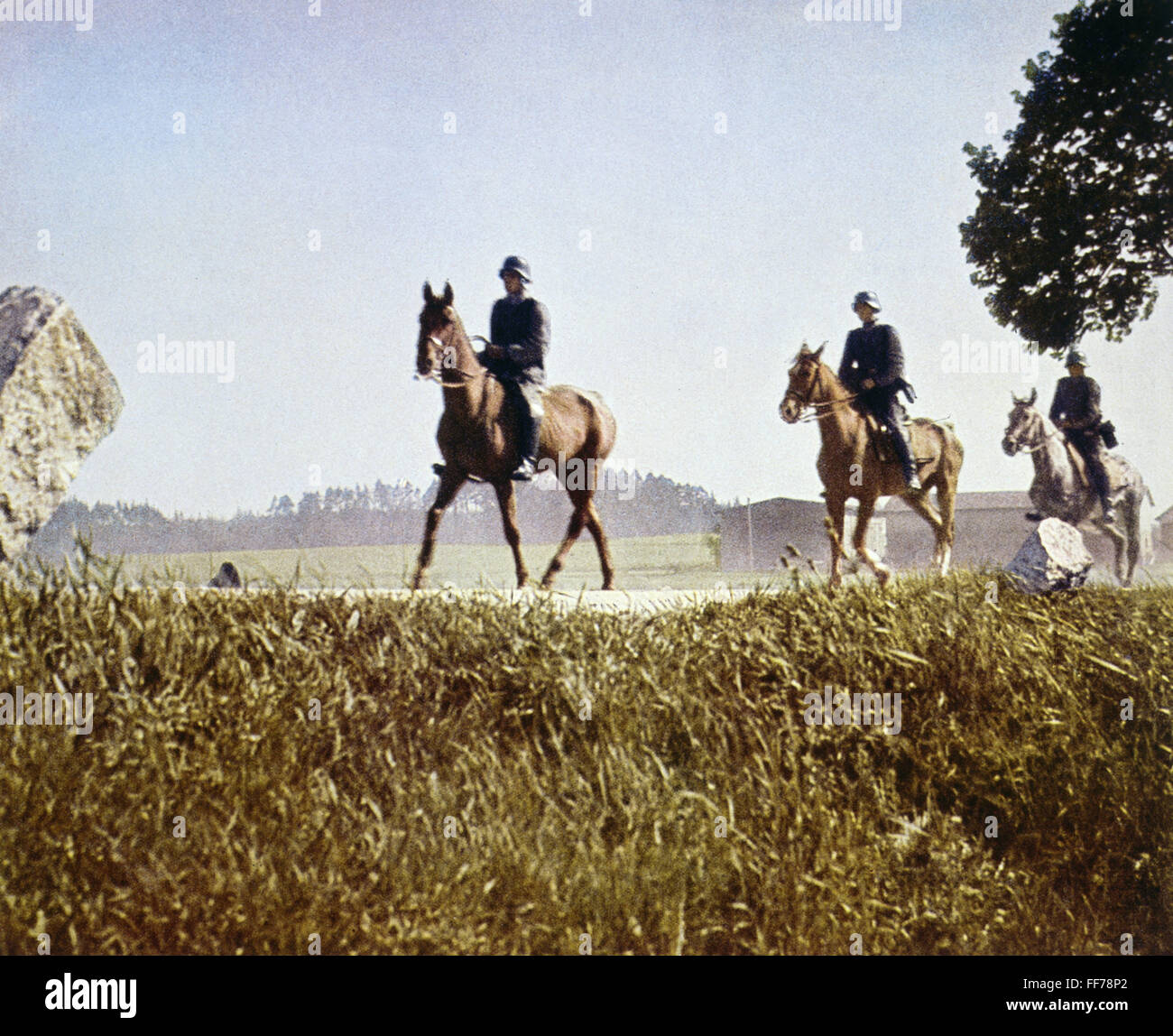 events, Second World War / WWII, German Wehrmacht, mounted reconnaissance patrol, circa 1941, Additional-Rights - Stock Image