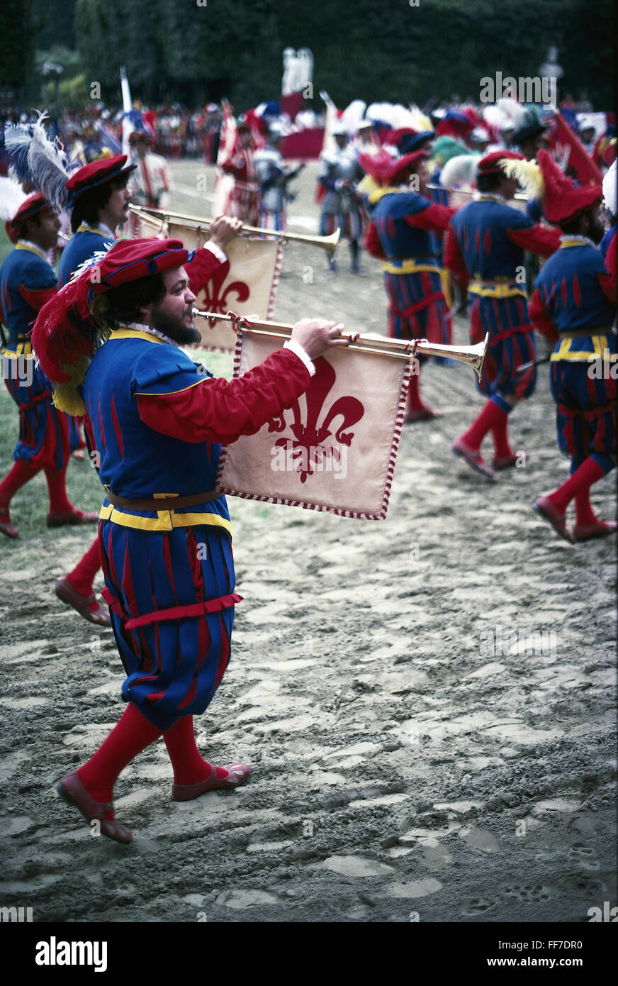 geography / travel, Italy, tradition / folklore, Florence, historical football match 'Calcio Storico Fiorentino', - Stock Image