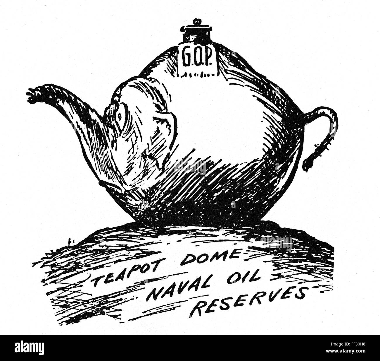 Teapot Dome Scandal Na Cartoon On The Teapot Dome Investigations