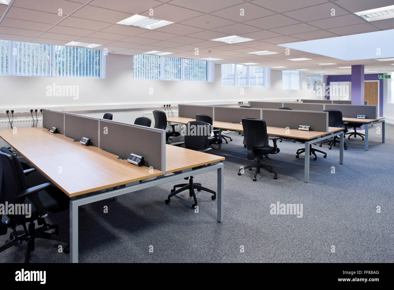 modern open plan office - Stock Image