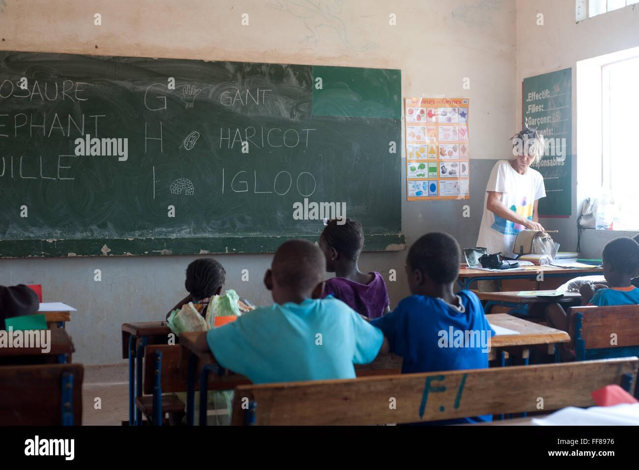 Black mature teacher