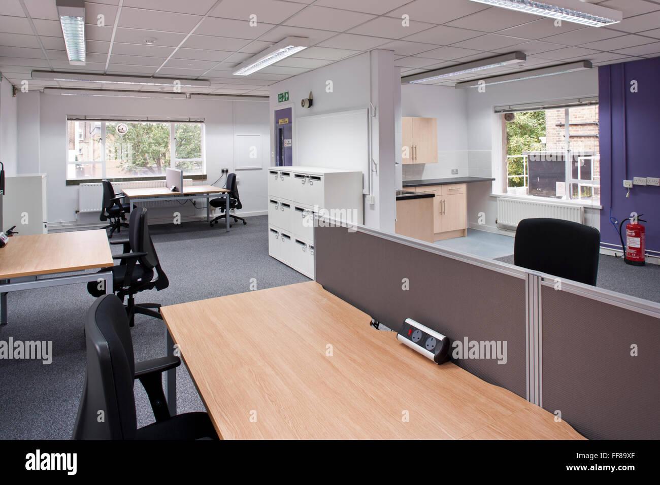 open plan office - Stock Image